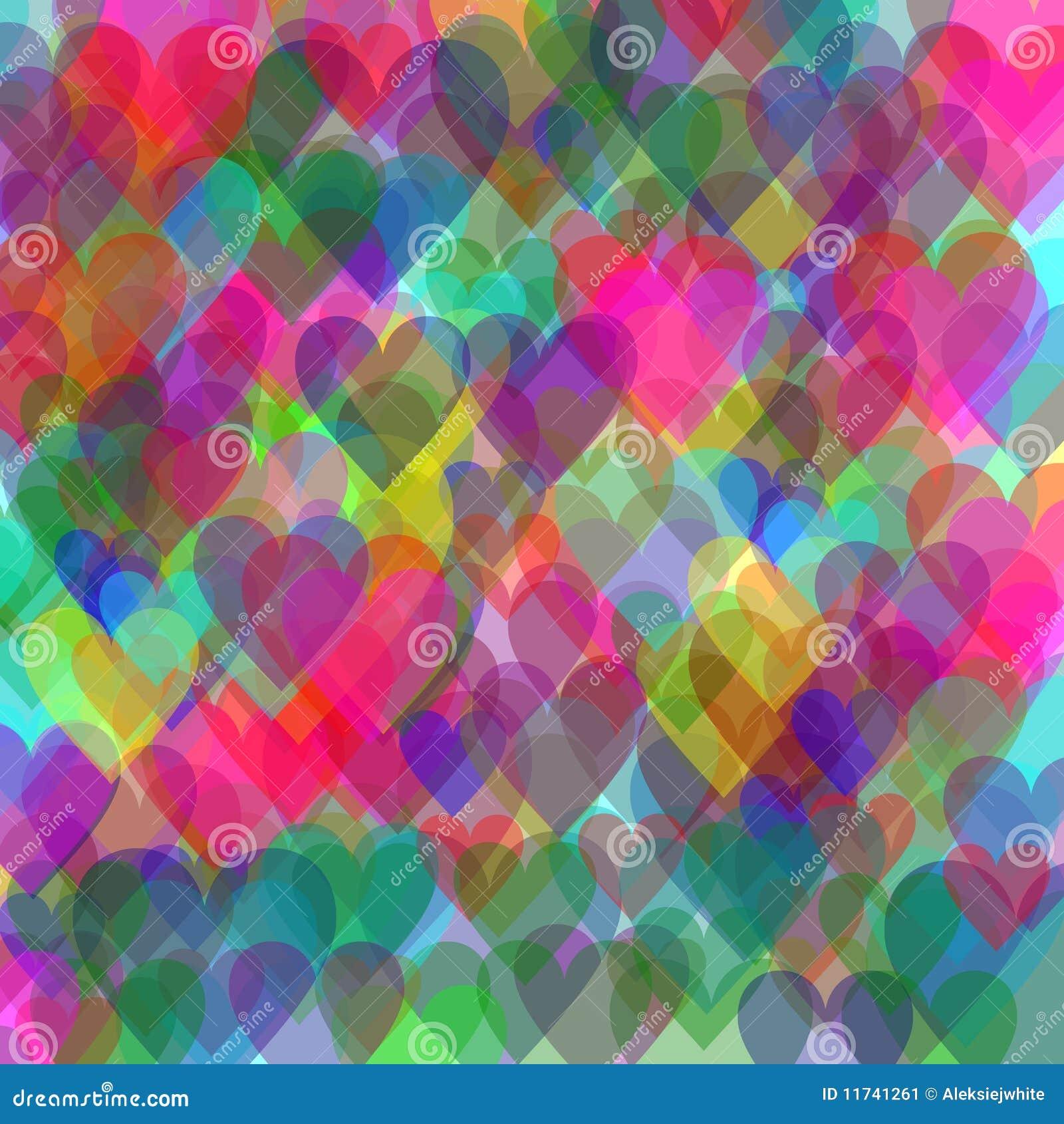 corazones de colores fondo - photo #2