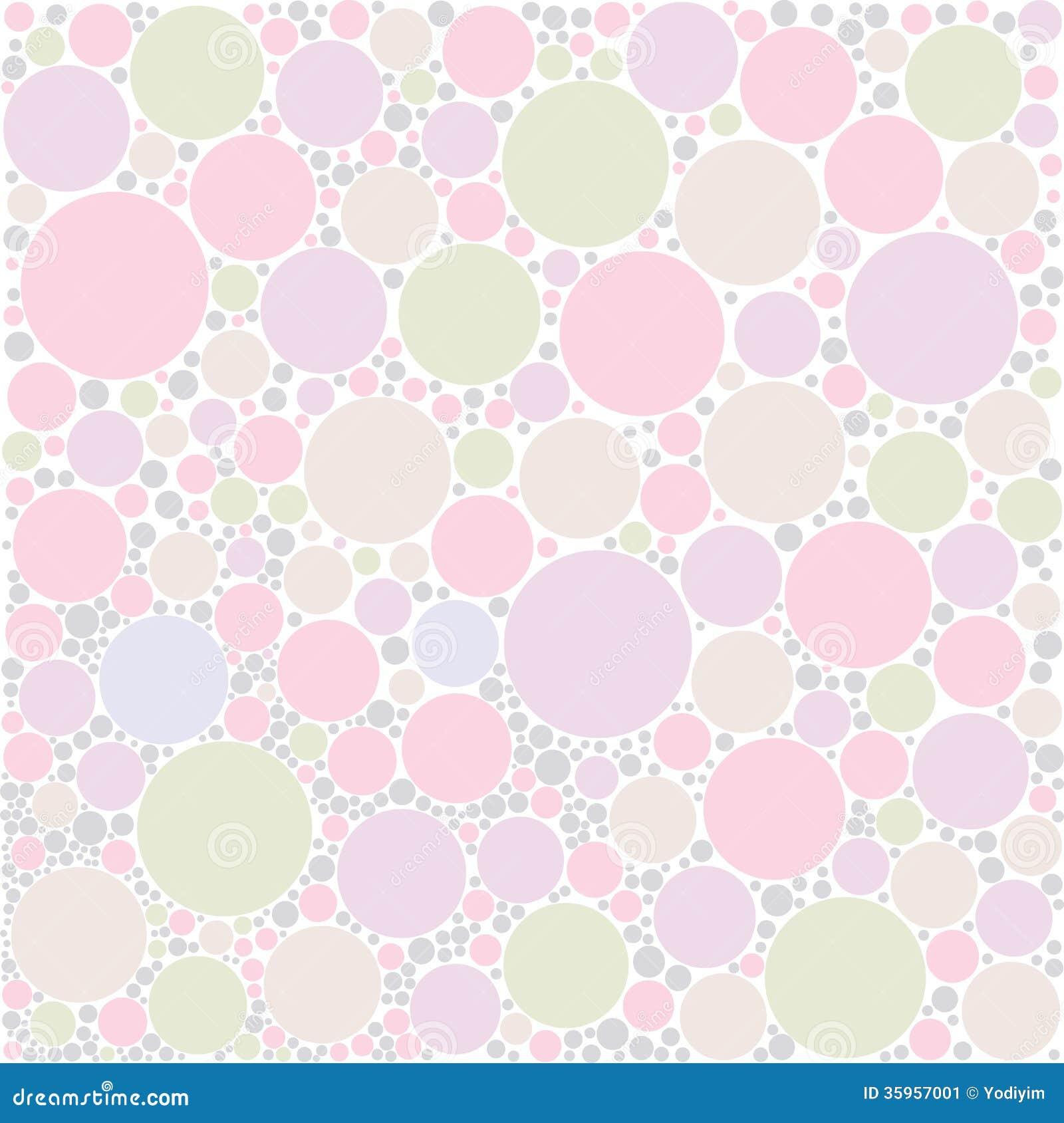 Fondo en colores pastel del círculo