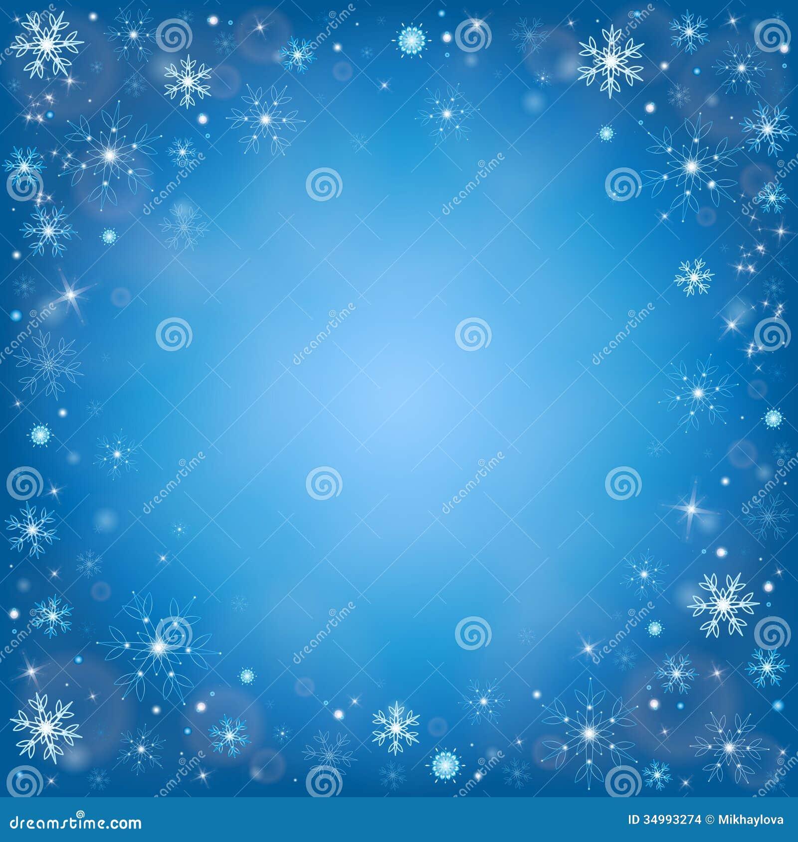 Fondo escarchado de la nieve del invierno