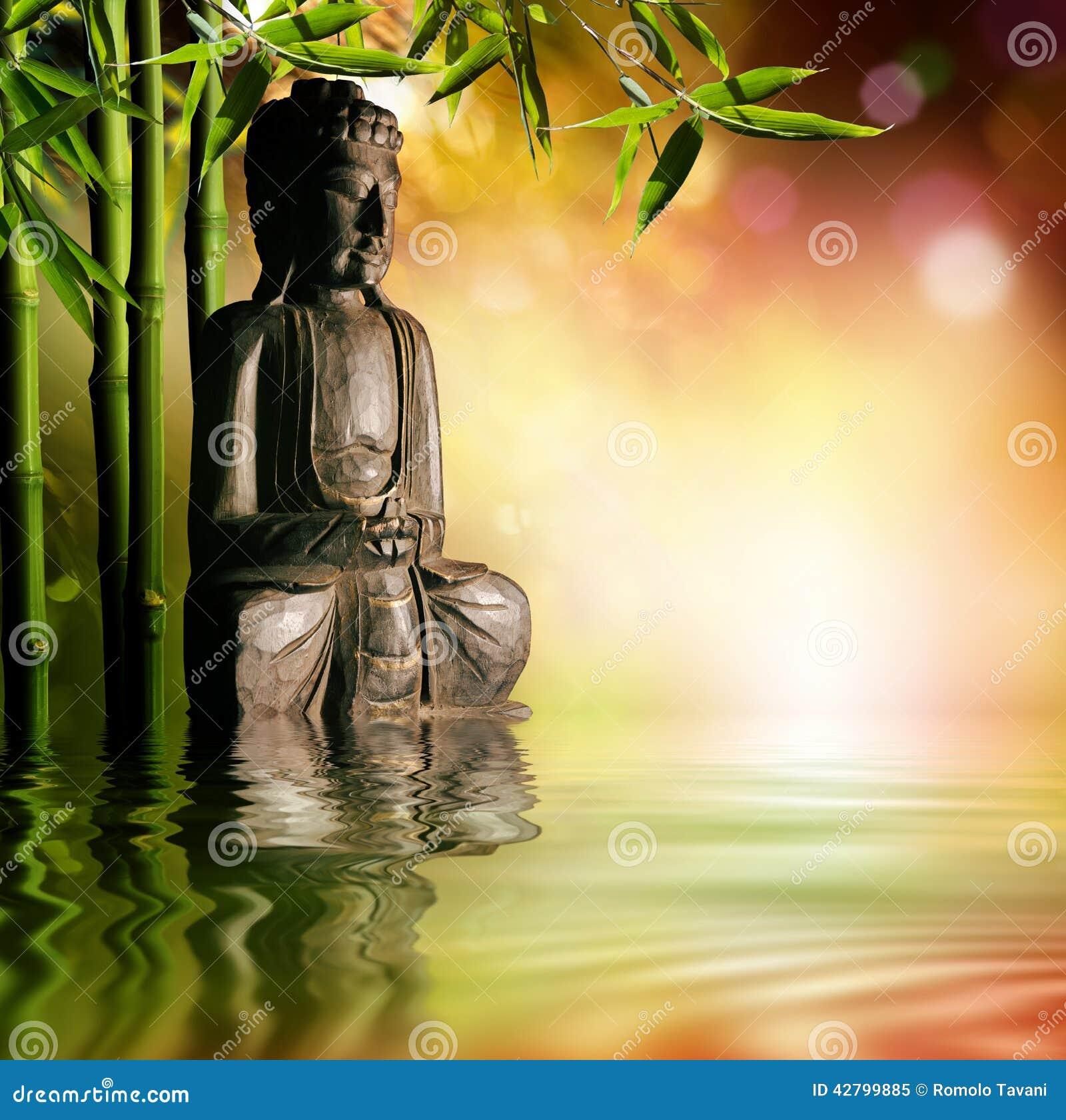 Fondo espiritual de la cultura asiática con Buda