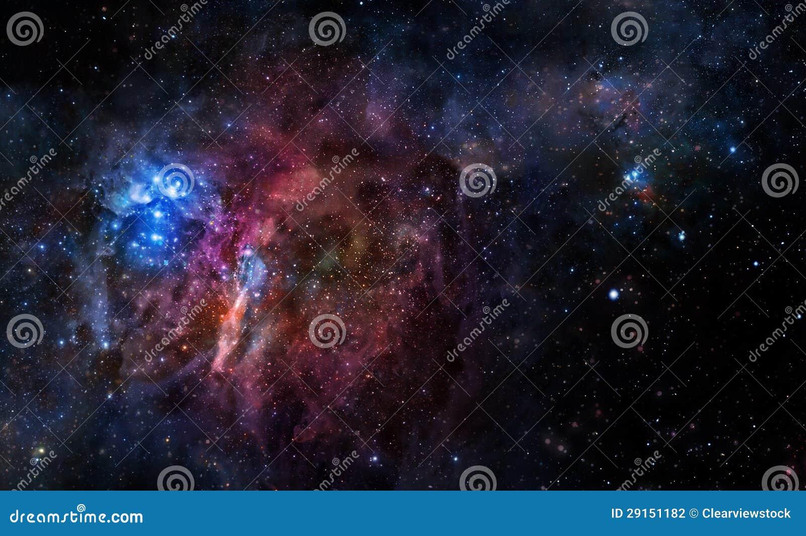 Fondo estrellado del espacio exterior profundo