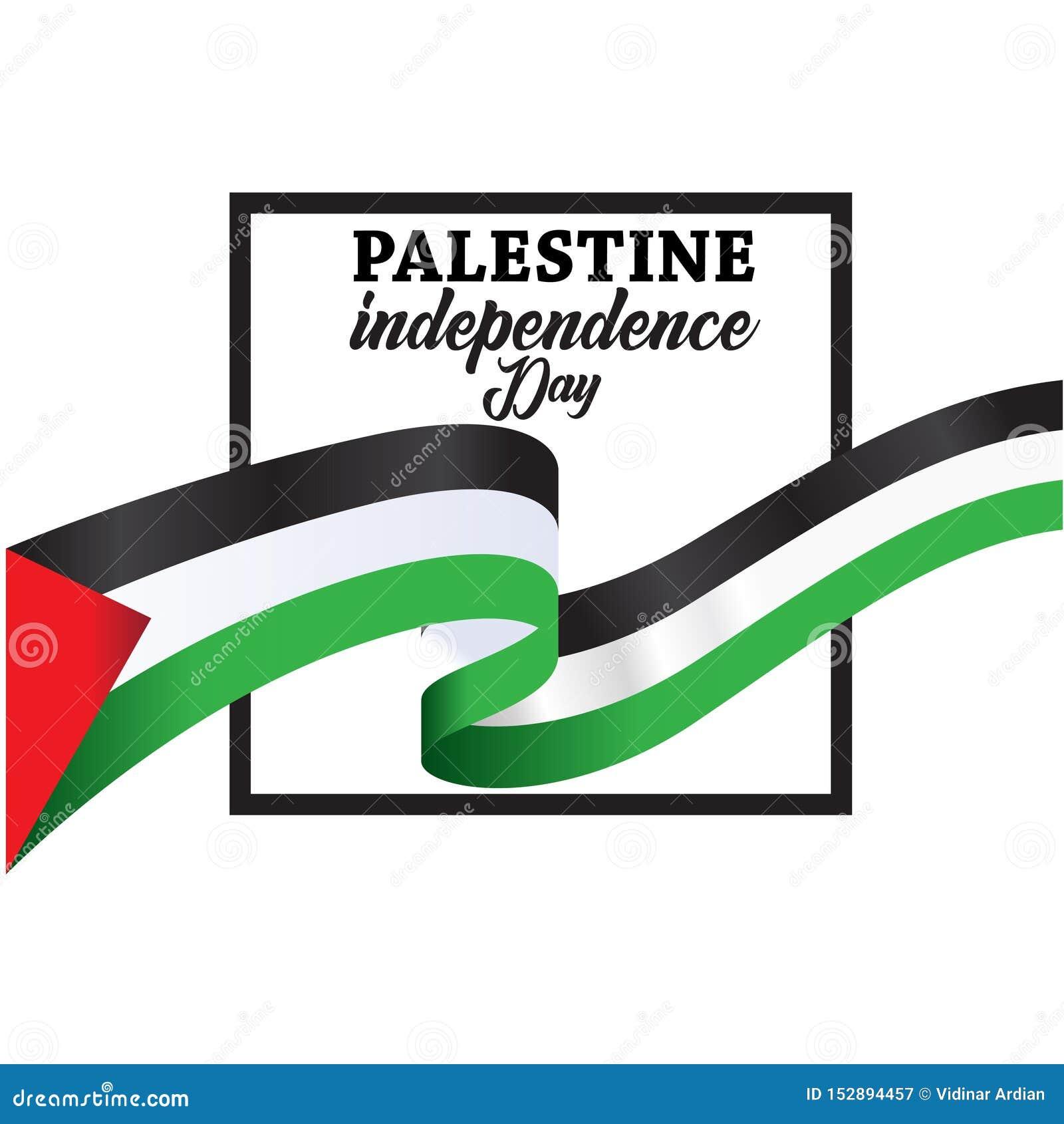 Fondo felice di festa dell indipendenza della Palestina