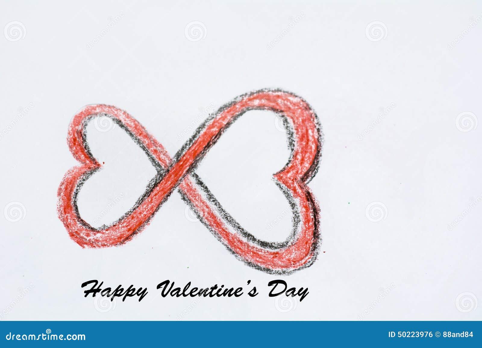 Fondo felice di giorno di biglietti di S. Valentino fatto da due cuori