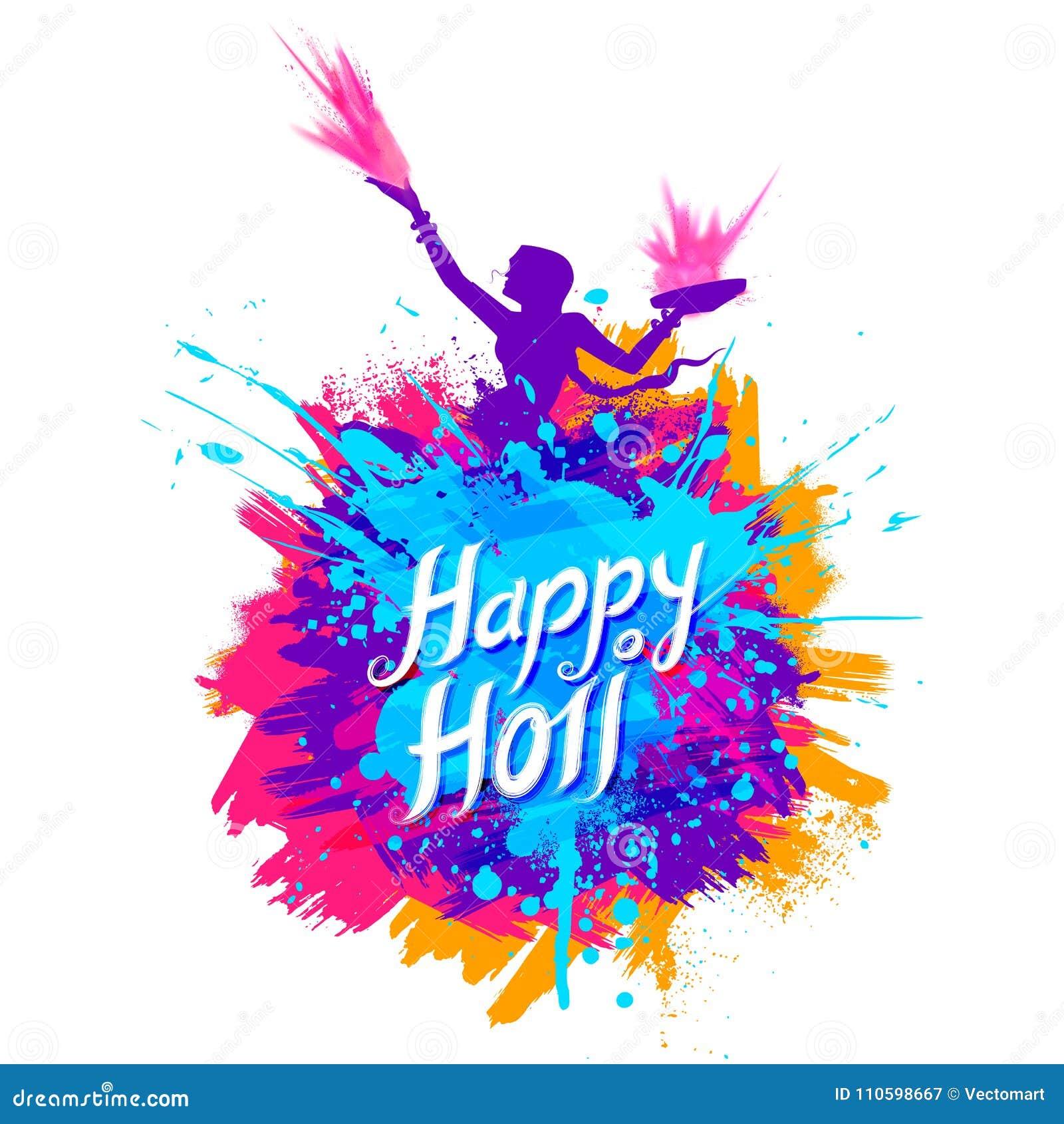 Fondo felice di Holi per il festival di colore dei saluti di celebrazione dell India