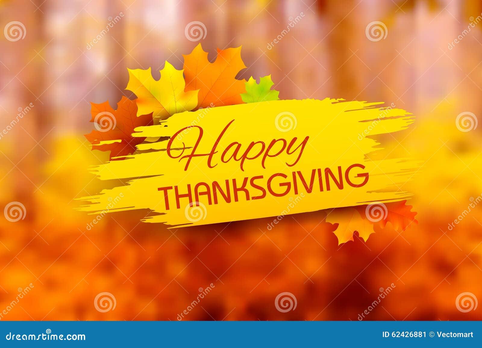Fondo feliz de la acción de gracias con las hojas de arce