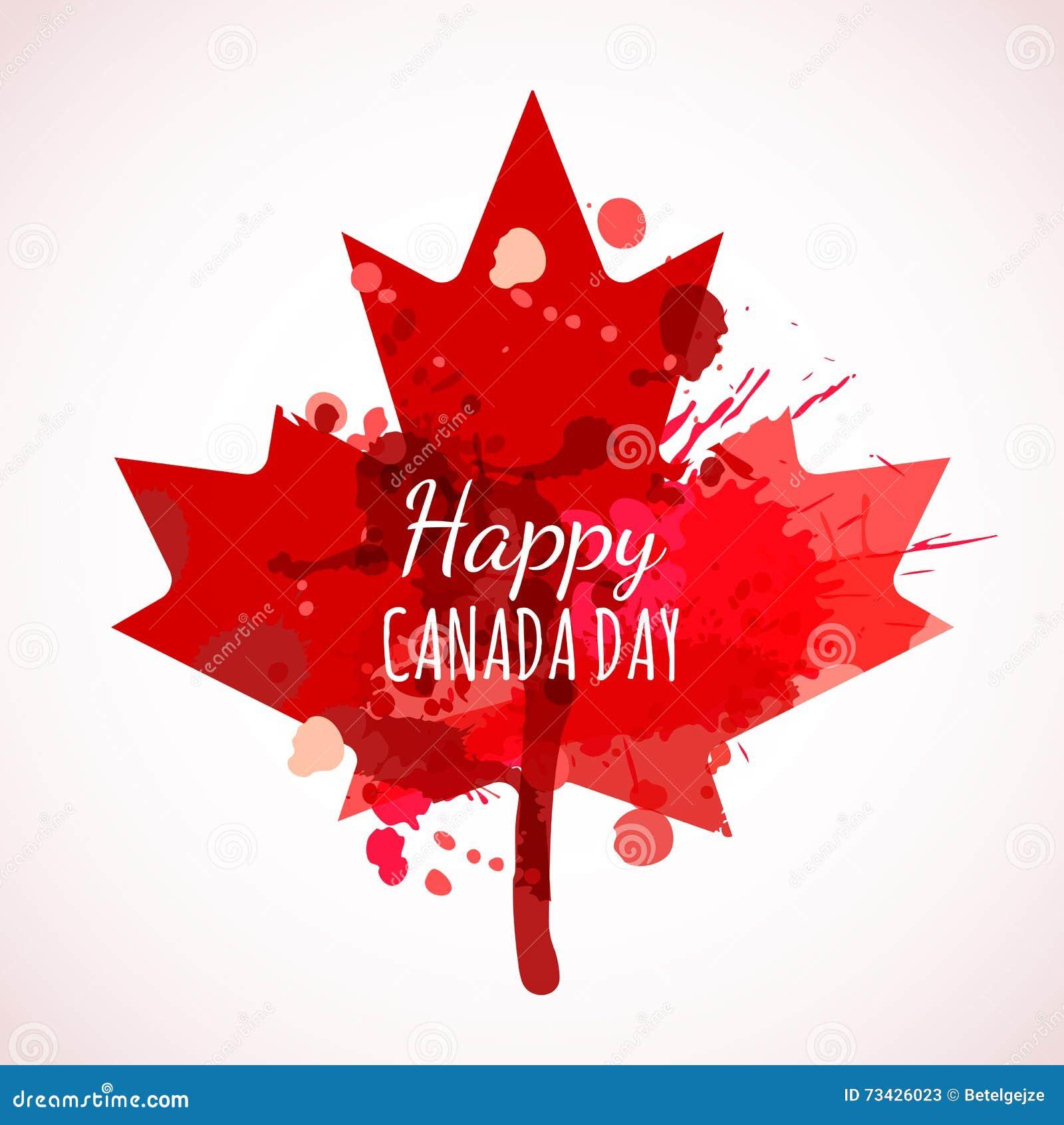 Fondo Feliz De La Acuarela Del Día De Canadá Cartel Del Día De ...