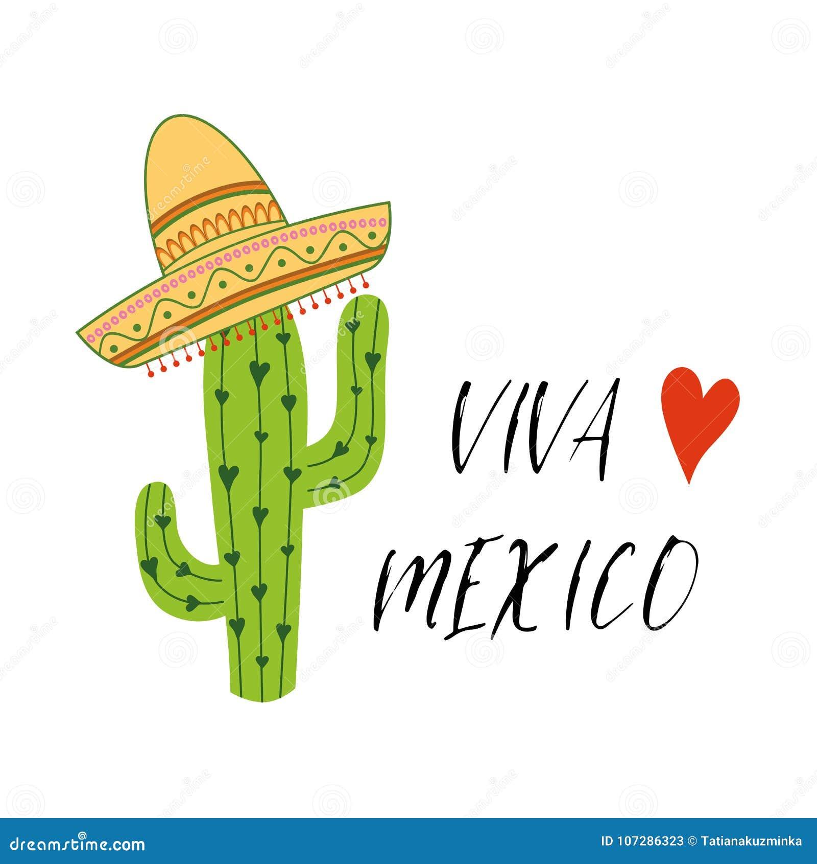 Fondo festivo colorido de Viva Mexico Ejemplo dibujado mano del garabato  del vector de la historieta Diseño mexicano brillante multicolor con el  texto 0b367dba6d1