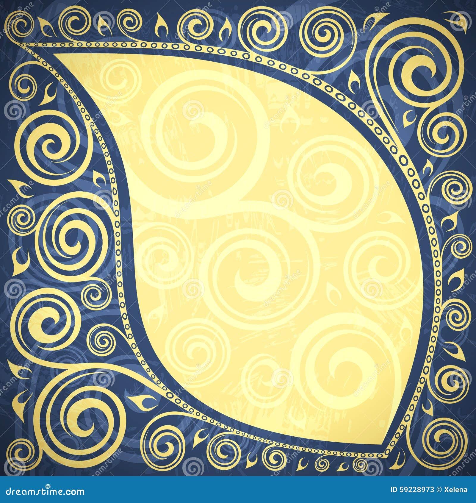 Download Fondo floral ilustración del vector. Ilustración de marco - 59228973