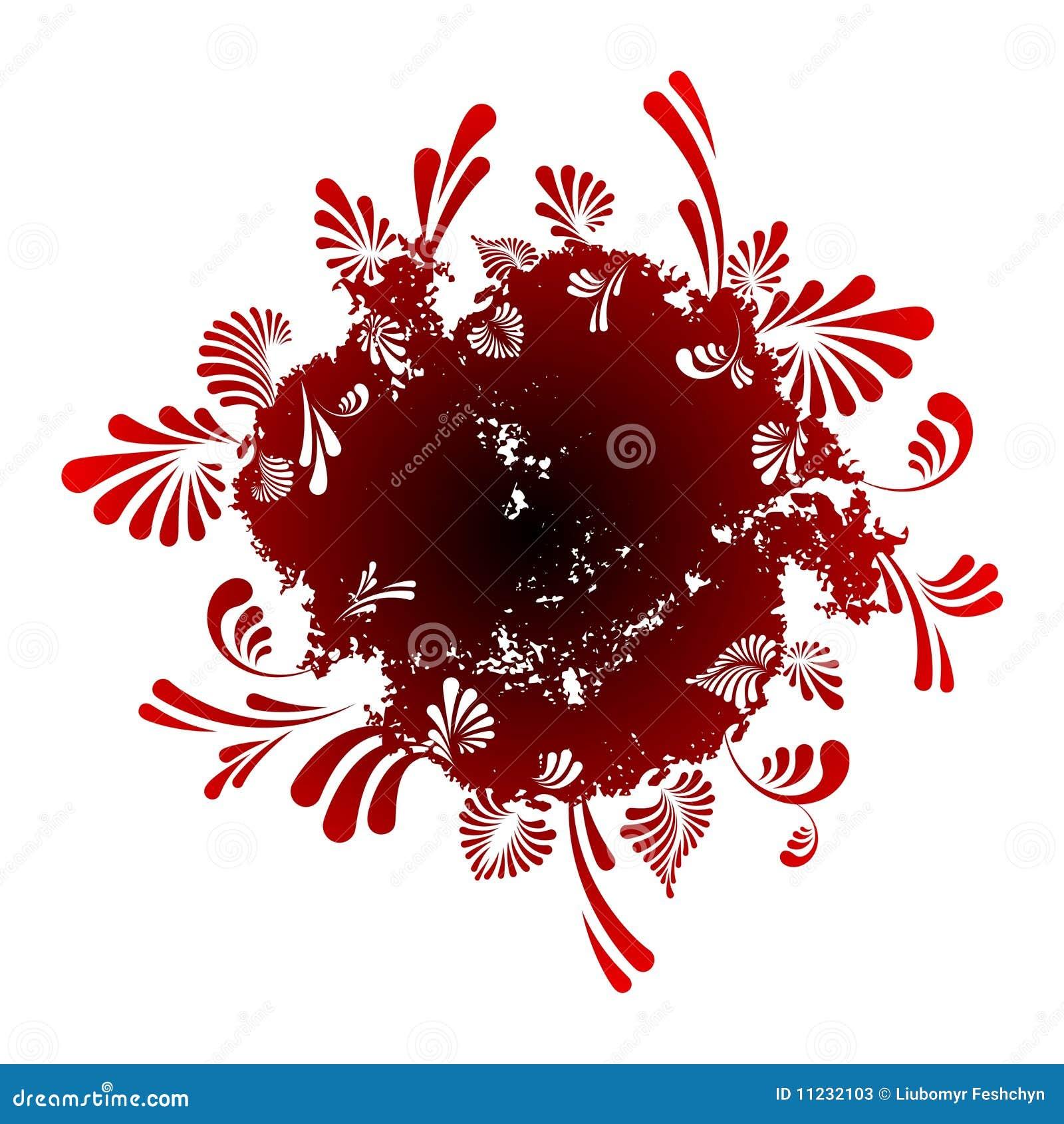 Fondo floral abstracto redondo