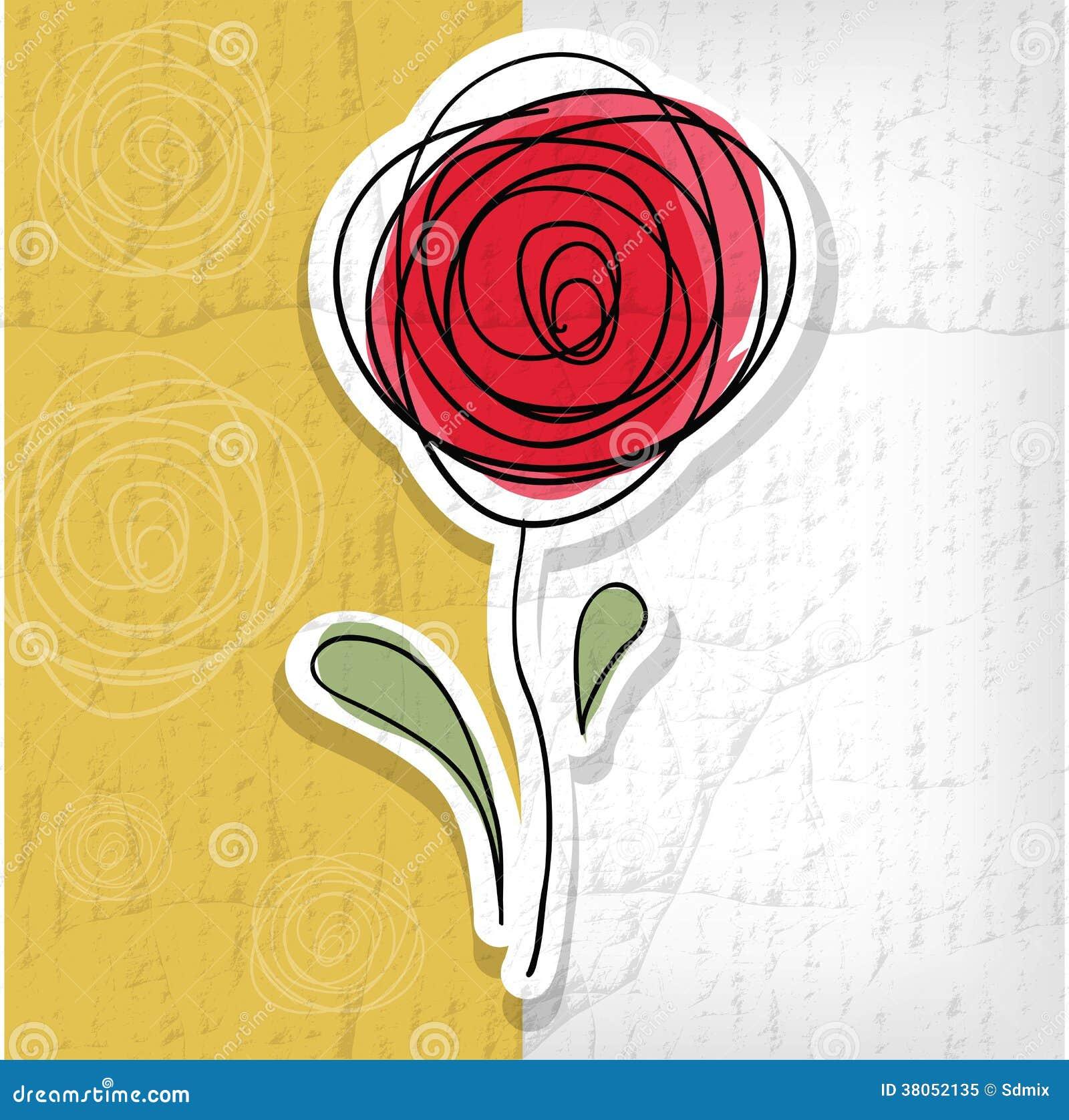 Fondo floral con las rosas abstractas