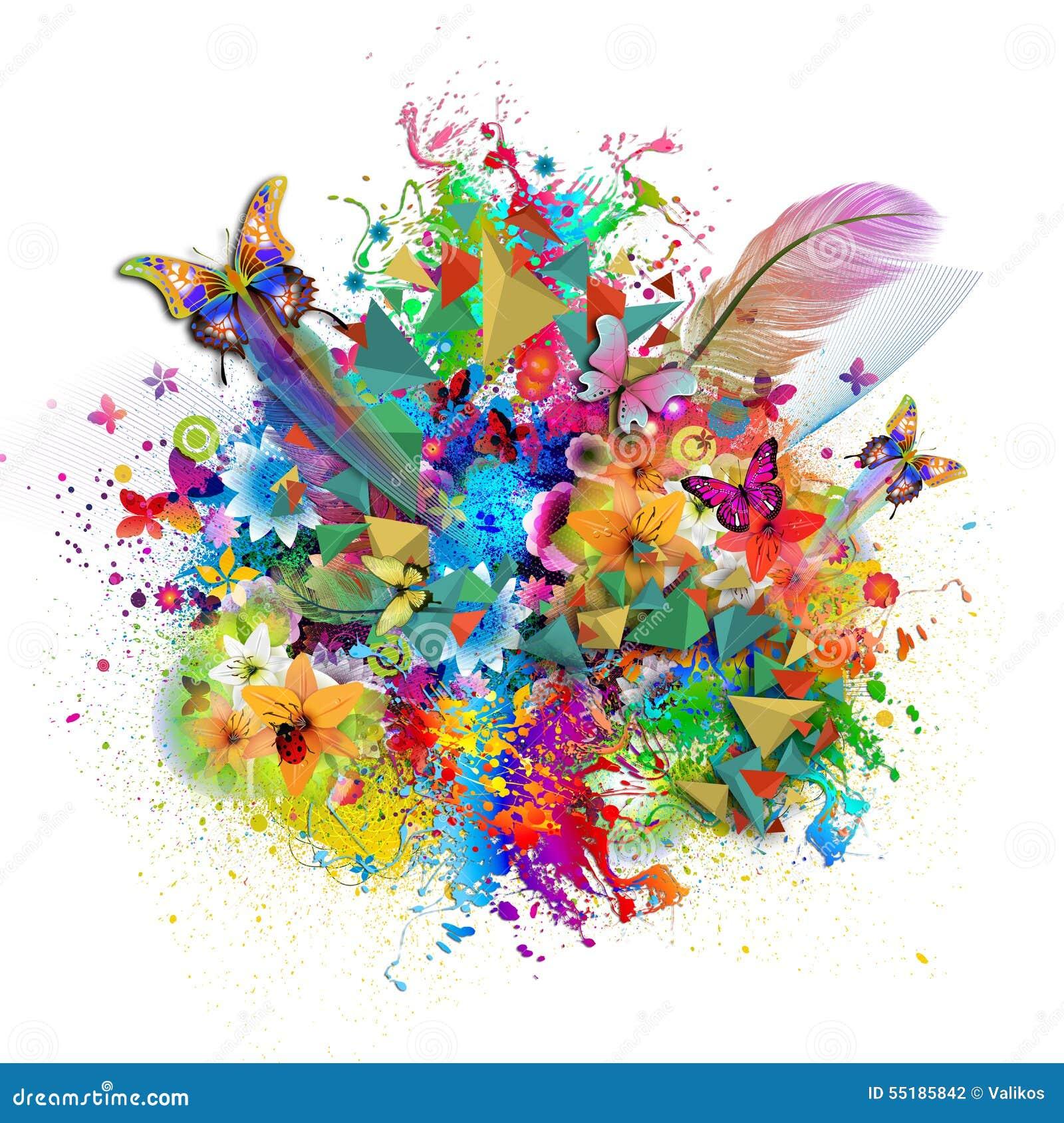 Fondo Floral De La Armonía Stock De Ilustración Ilustración De