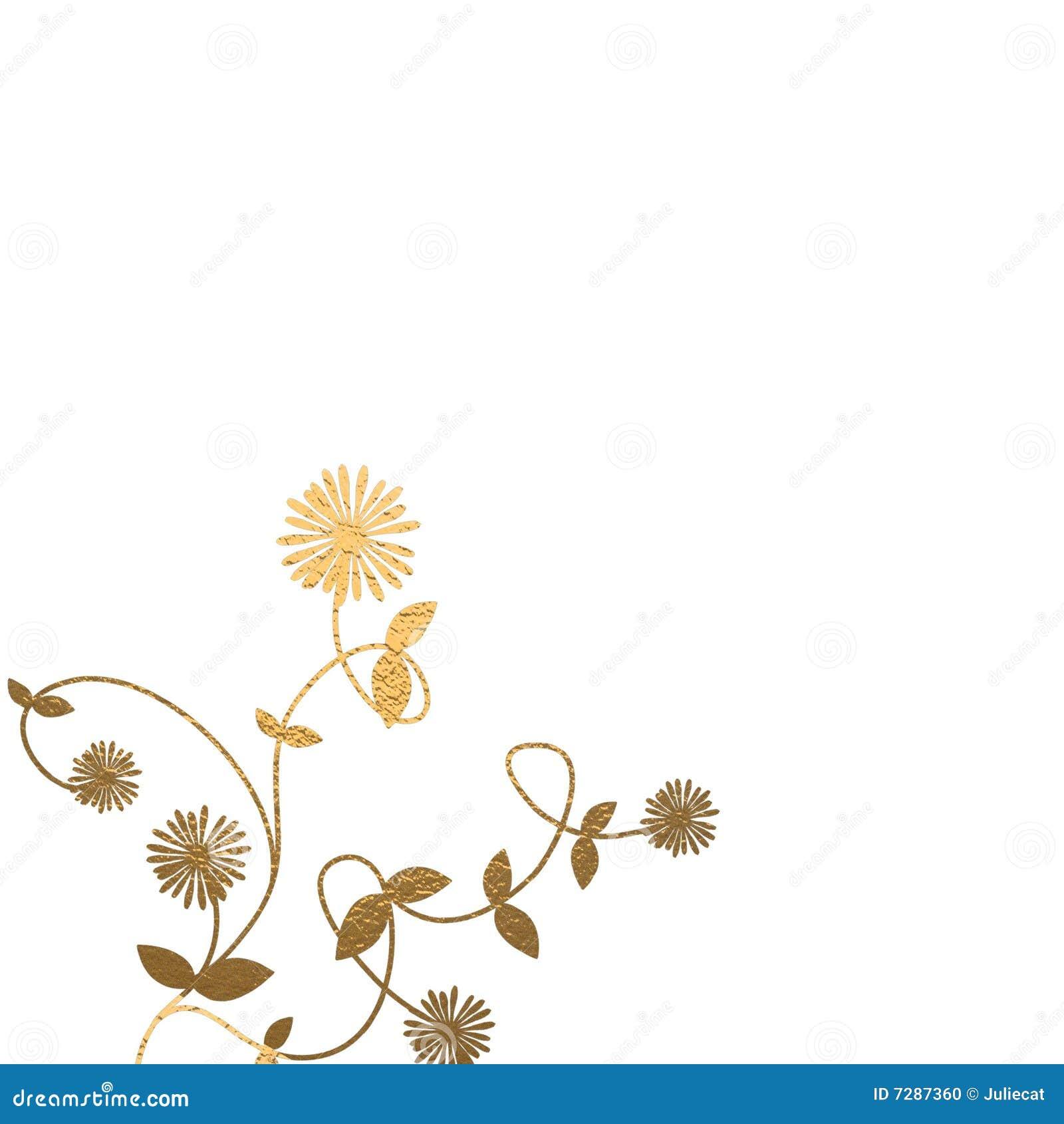 Fondo floral del oro
