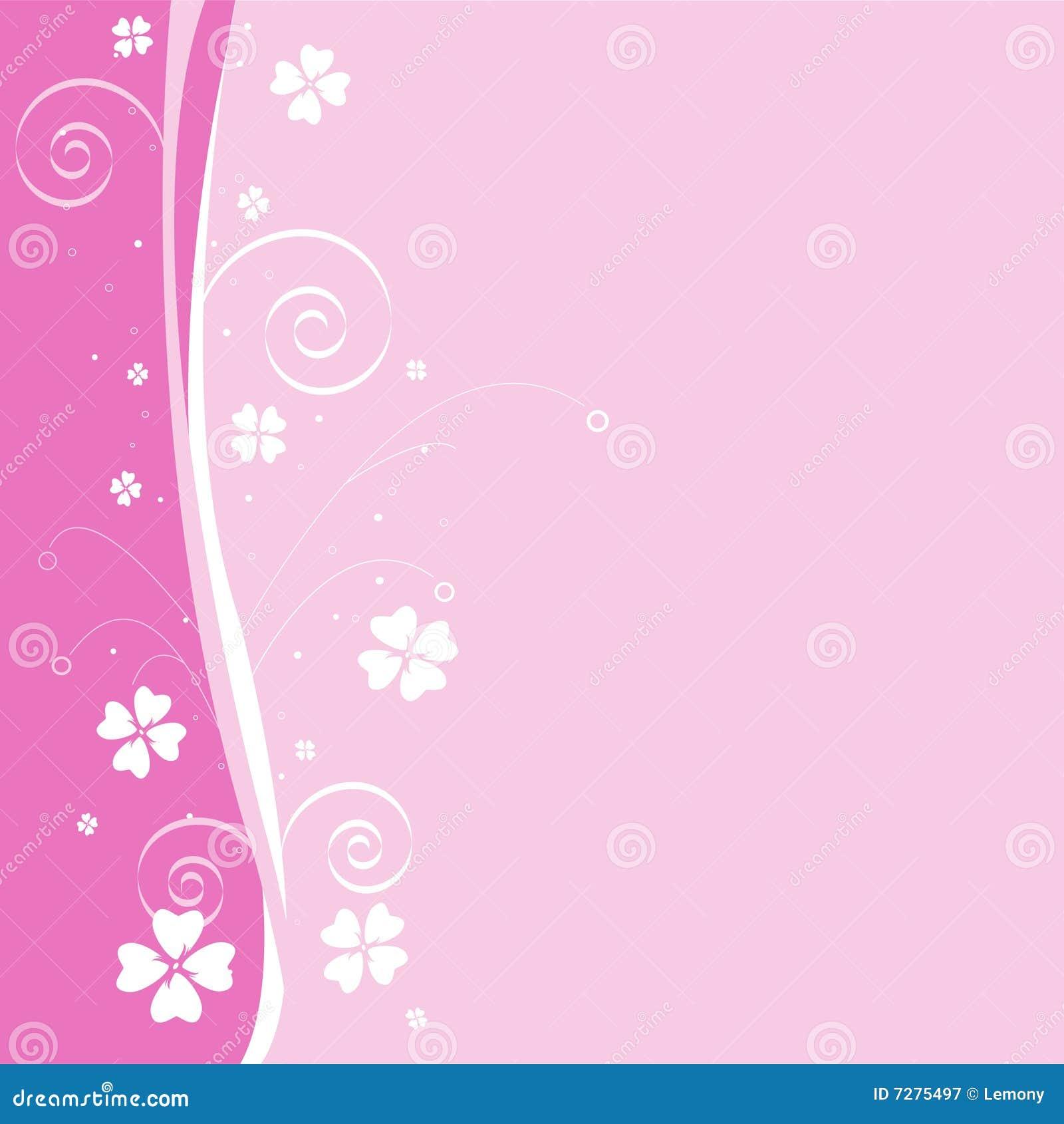 Fondo floral rosado