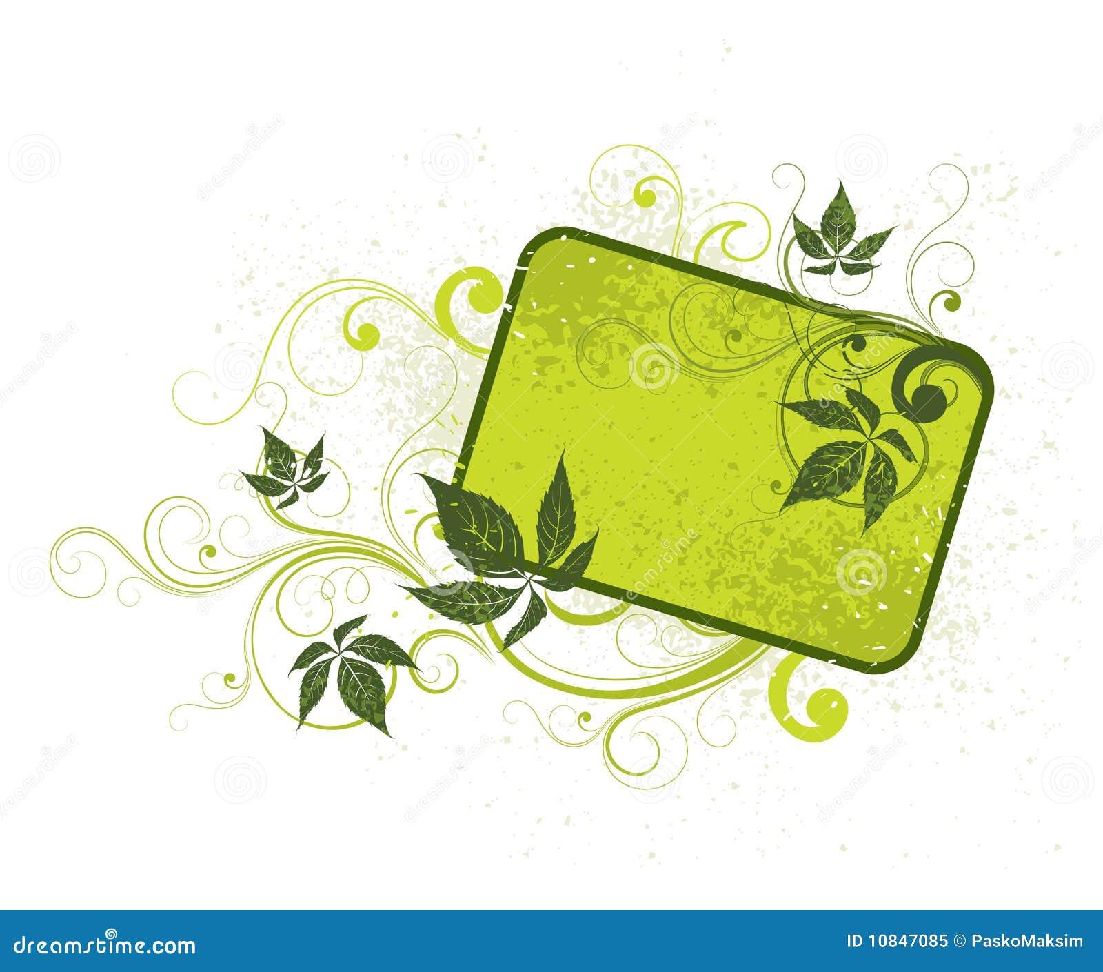 Fondo floral verde claro