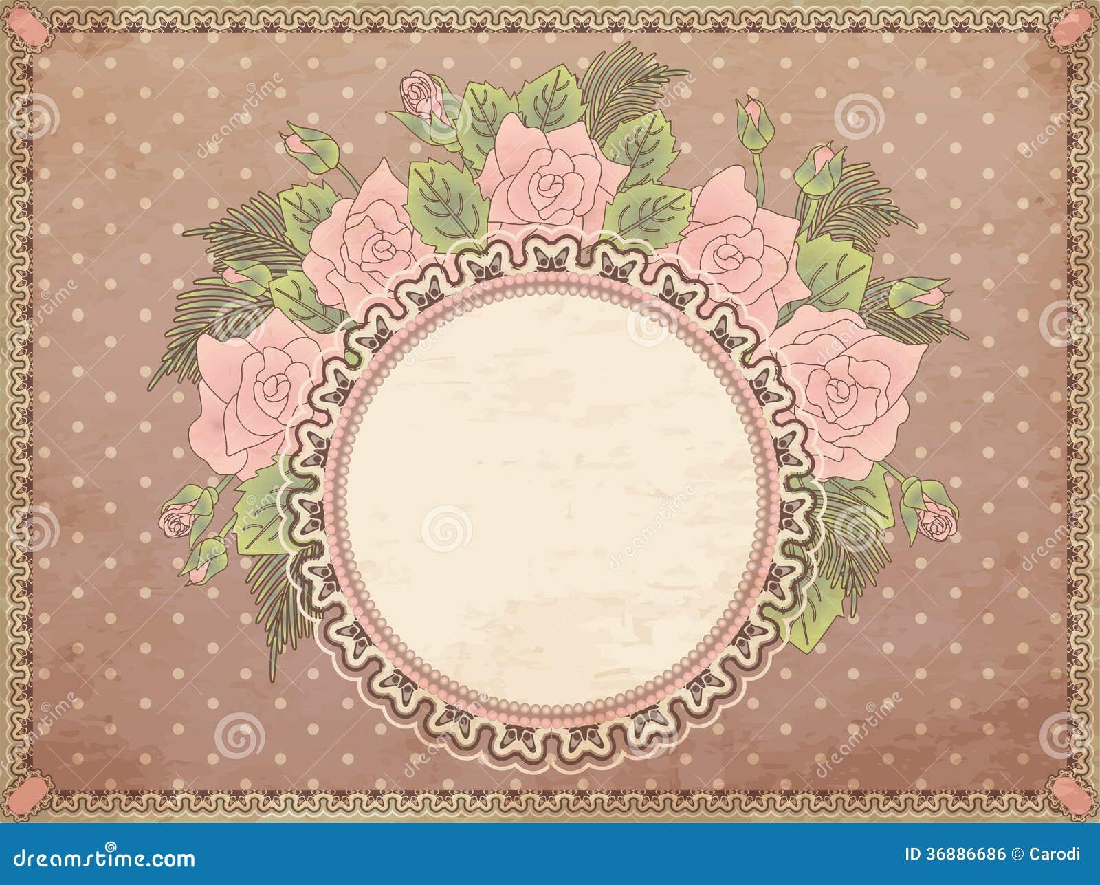 Download Fondo floreale d'annata illustrazione vettoriale. Illustrazione di grunge - 36886686
