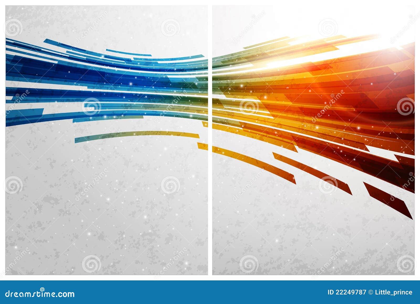 Fondo, frente y parte posterior abstractos del color