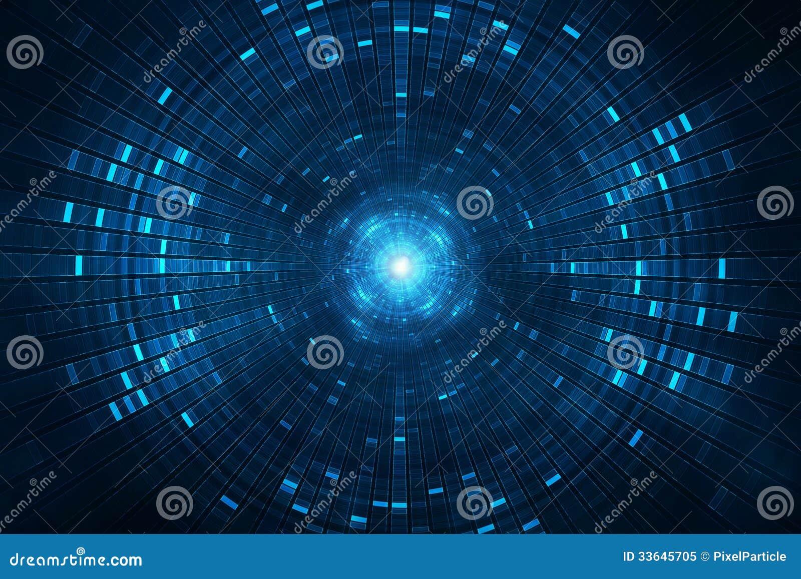 Fondo futurista abstracto de la ciencia ficción - acelerador de partícula del collider