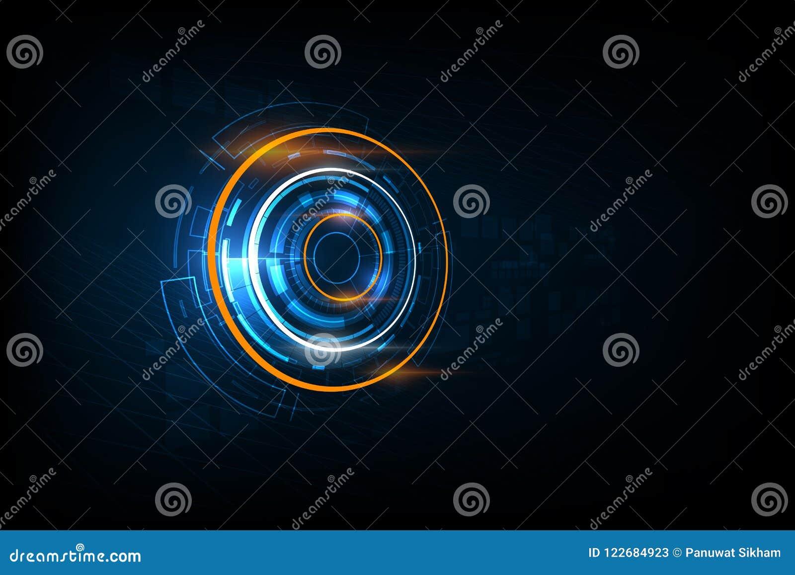 Fondo futurista abstracto de la tecnología de circuito electrónico, VE