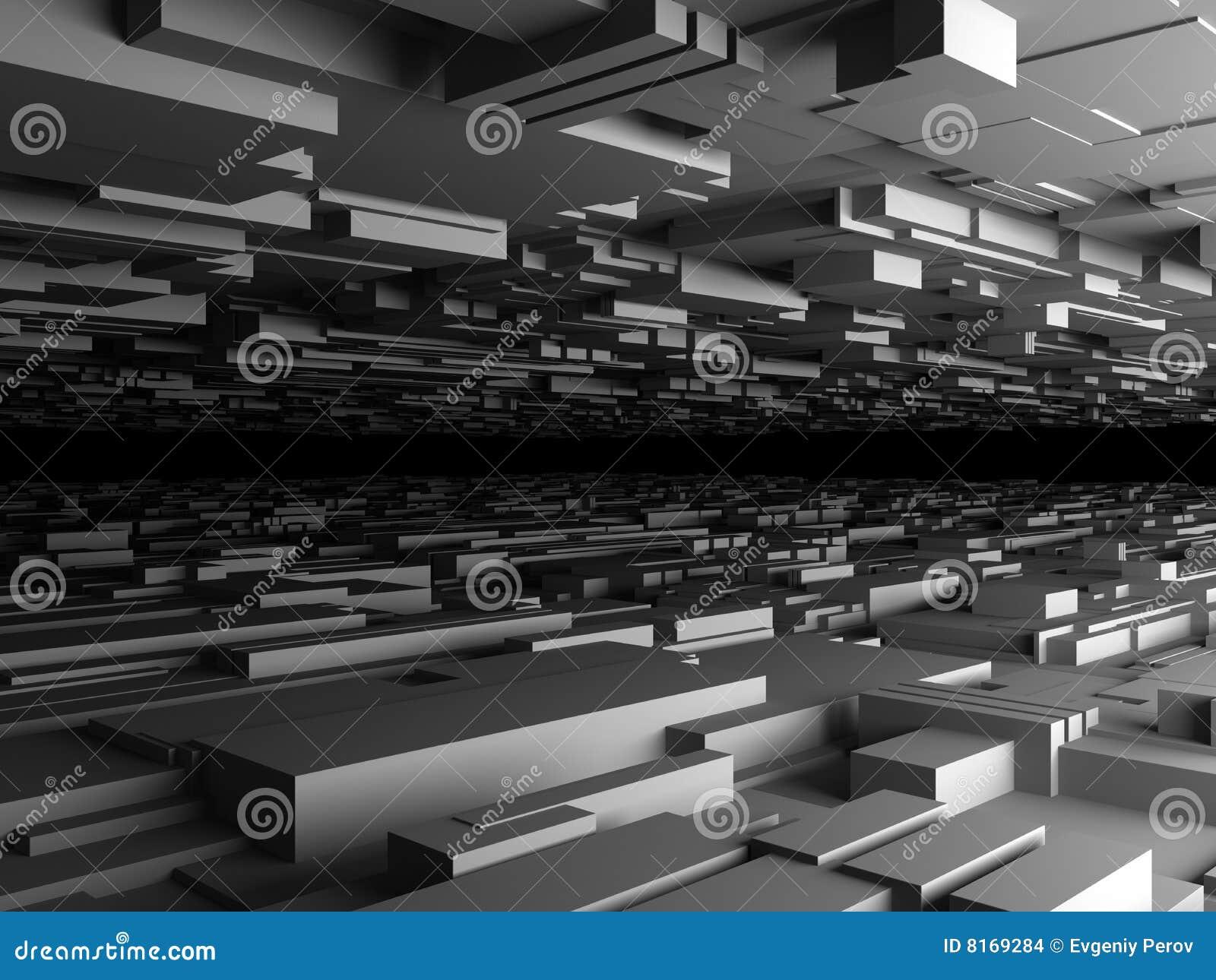 Fondo futurista abstracto en gris