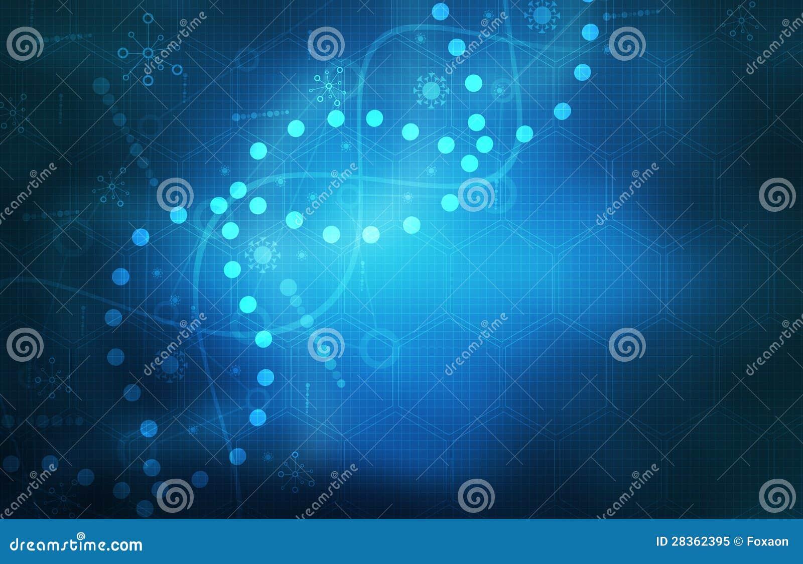 Fondo futurista azul del extracto de la tecnología de la ciencia médica
