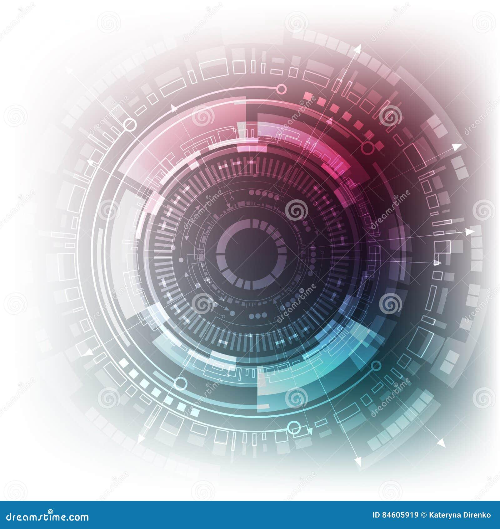 Fondo futurista de Sci fi Ilustración del vector