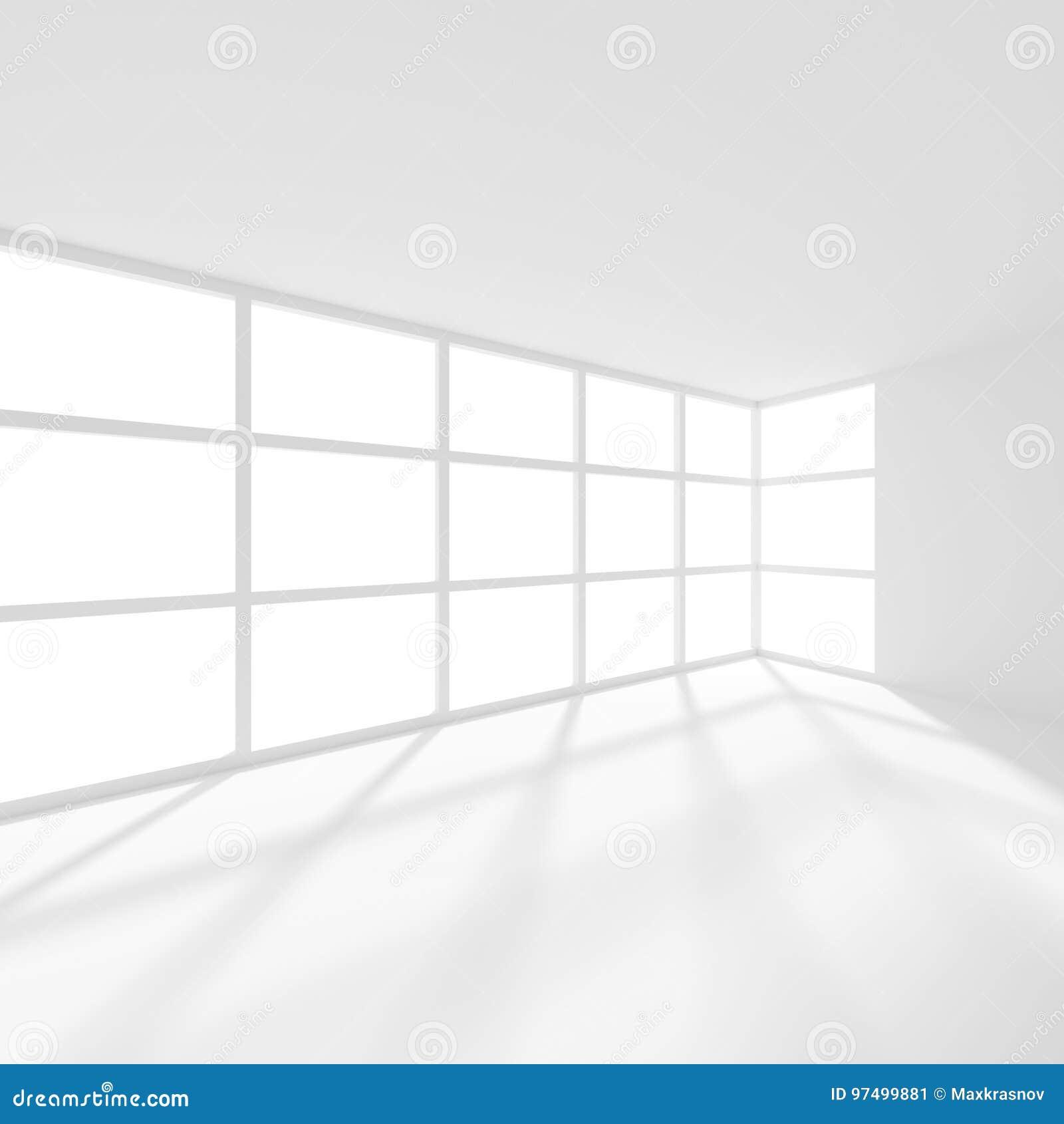 Fondo futuristico astratto di architettura Ufficio minimo