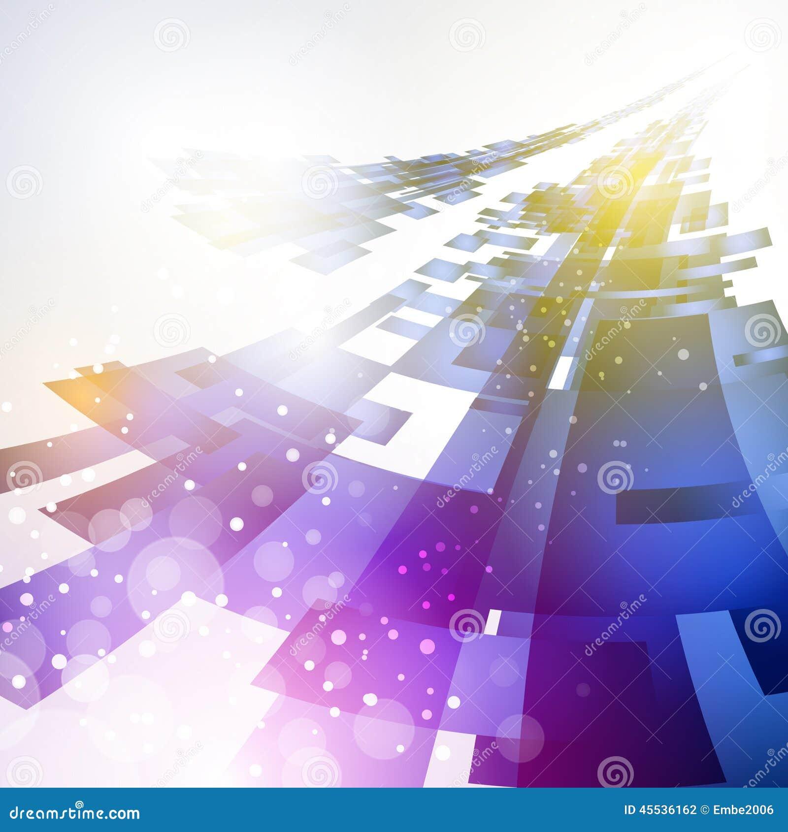 Fondo futuro abstracto de la tecnología