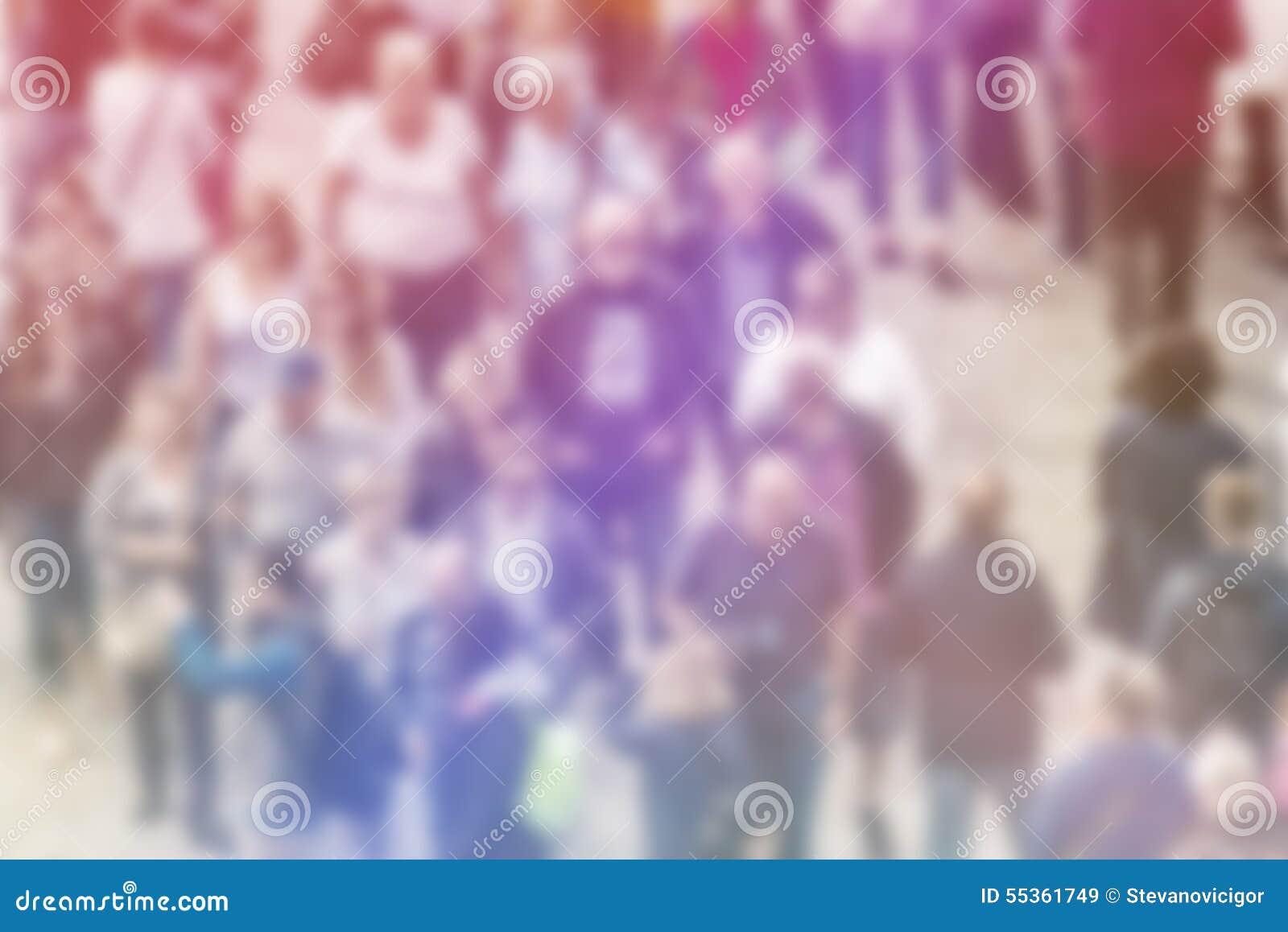 Fondo generale della sfuocatura di opinione pubblica, vista aerea della folla
