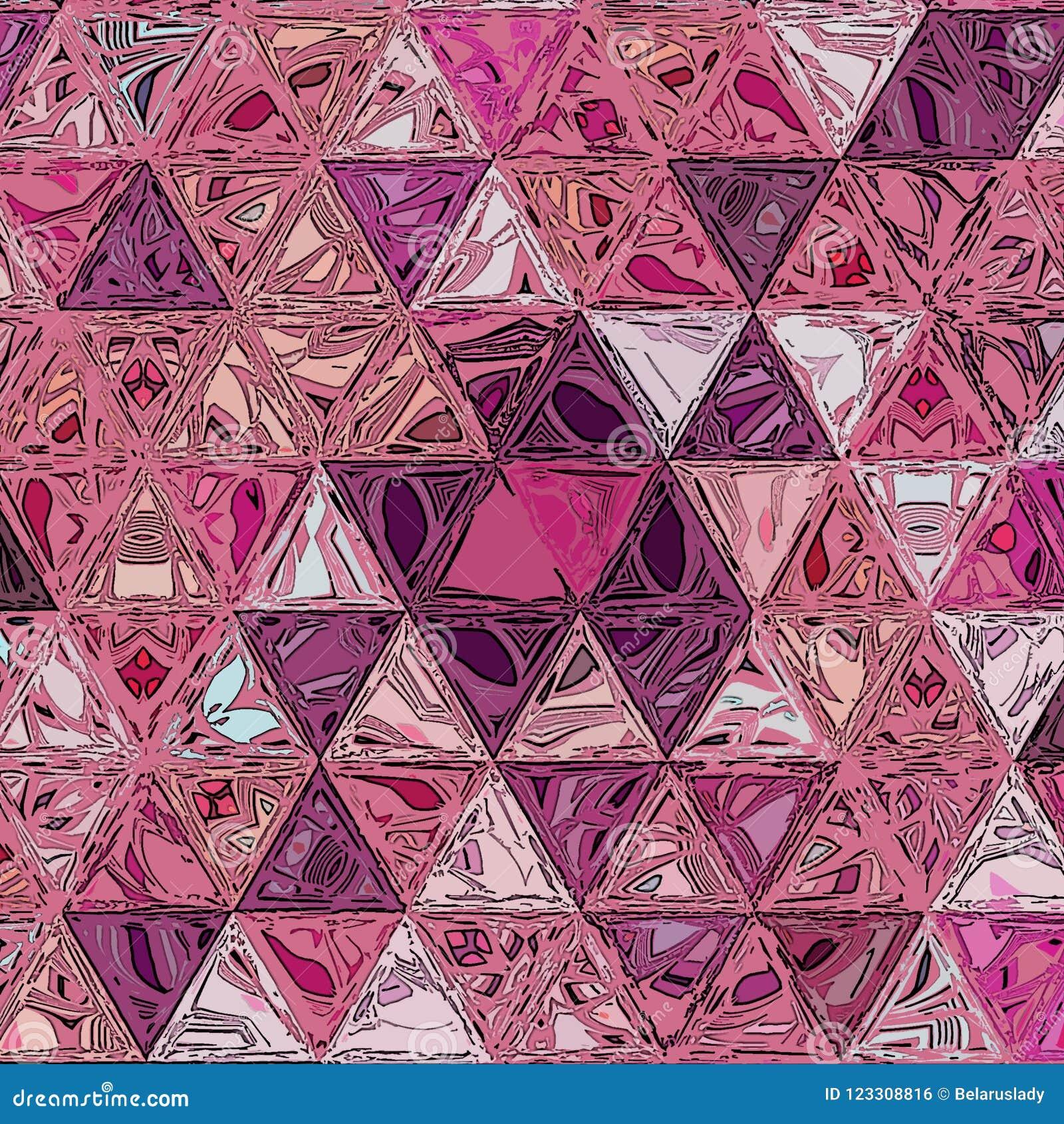 Fondo geométrico abstracto de la acuarela con los triángulos