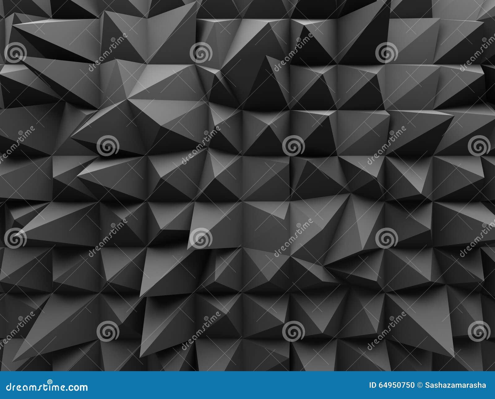 Fondo geométrico abstracto de la oscuridad 3d