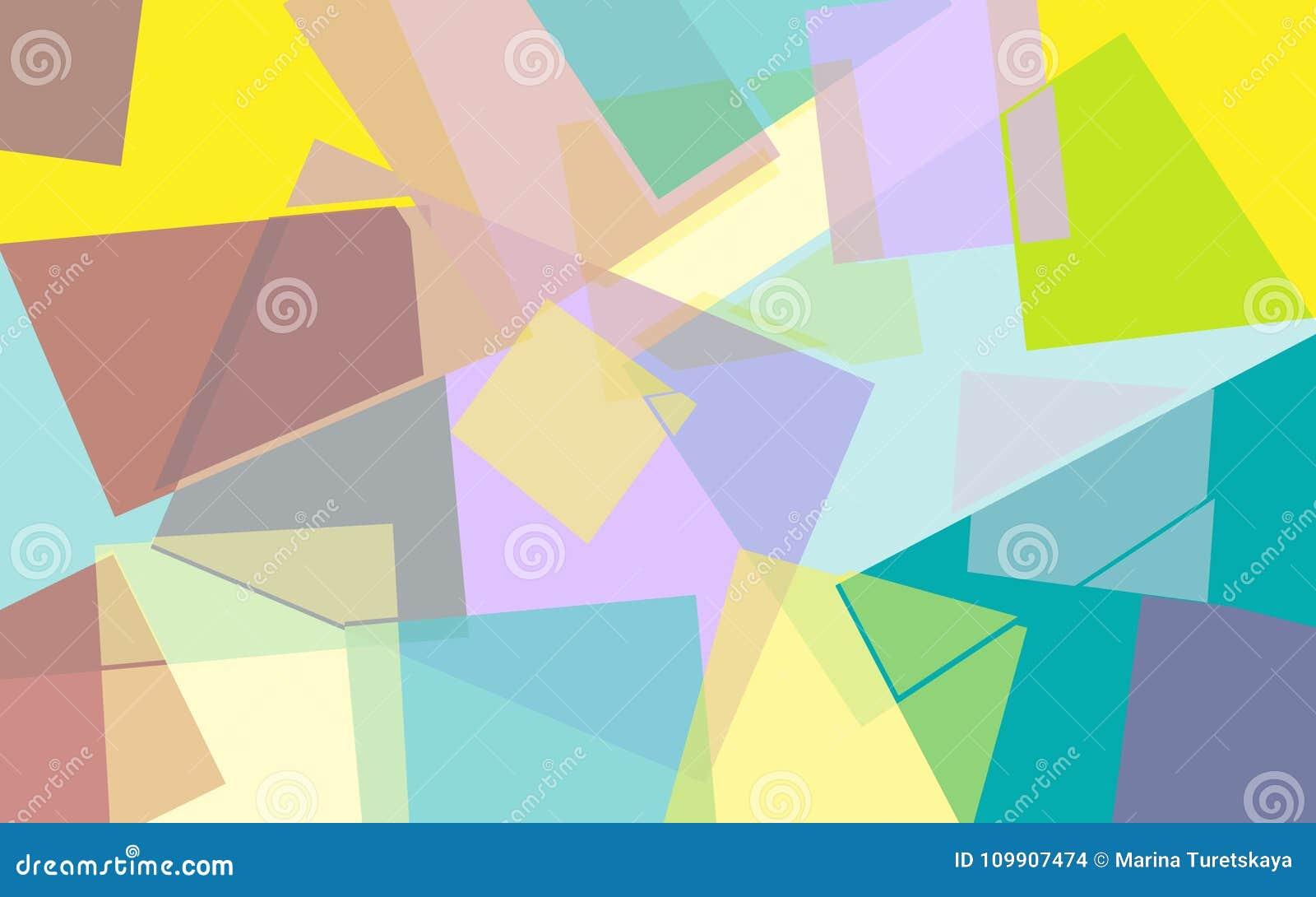 Fondo geométrico coloreado brillante abstracto