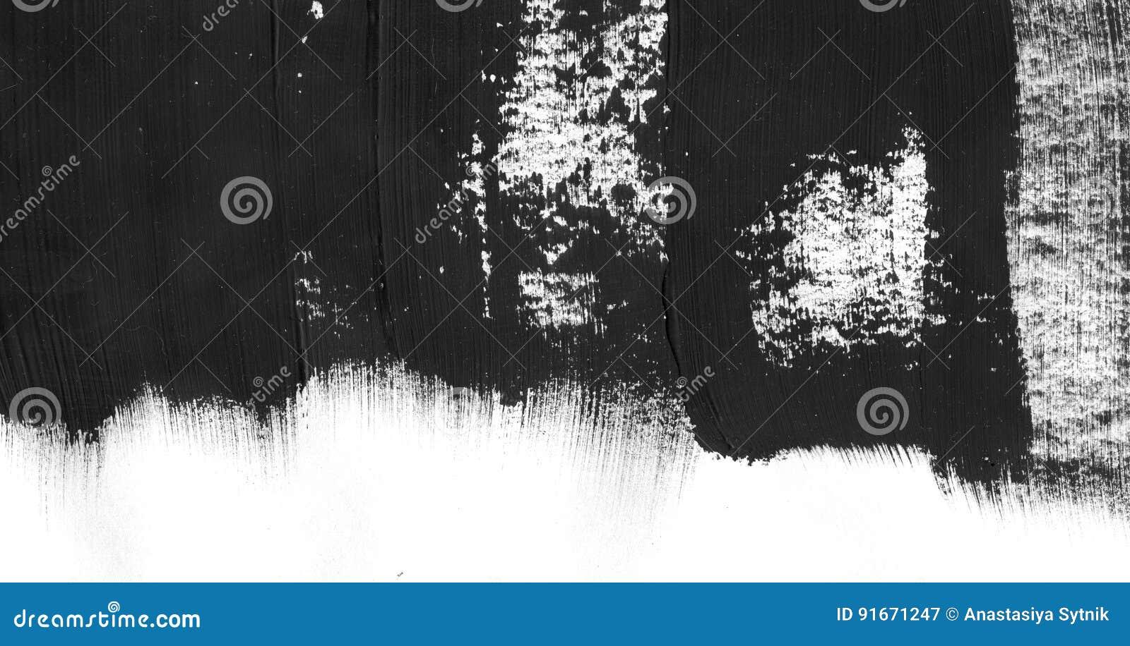 Fondo geométrico del extracto de la pintada Papel pintado con efecto de la acuarela del aceite Textura negra del movimiento de la