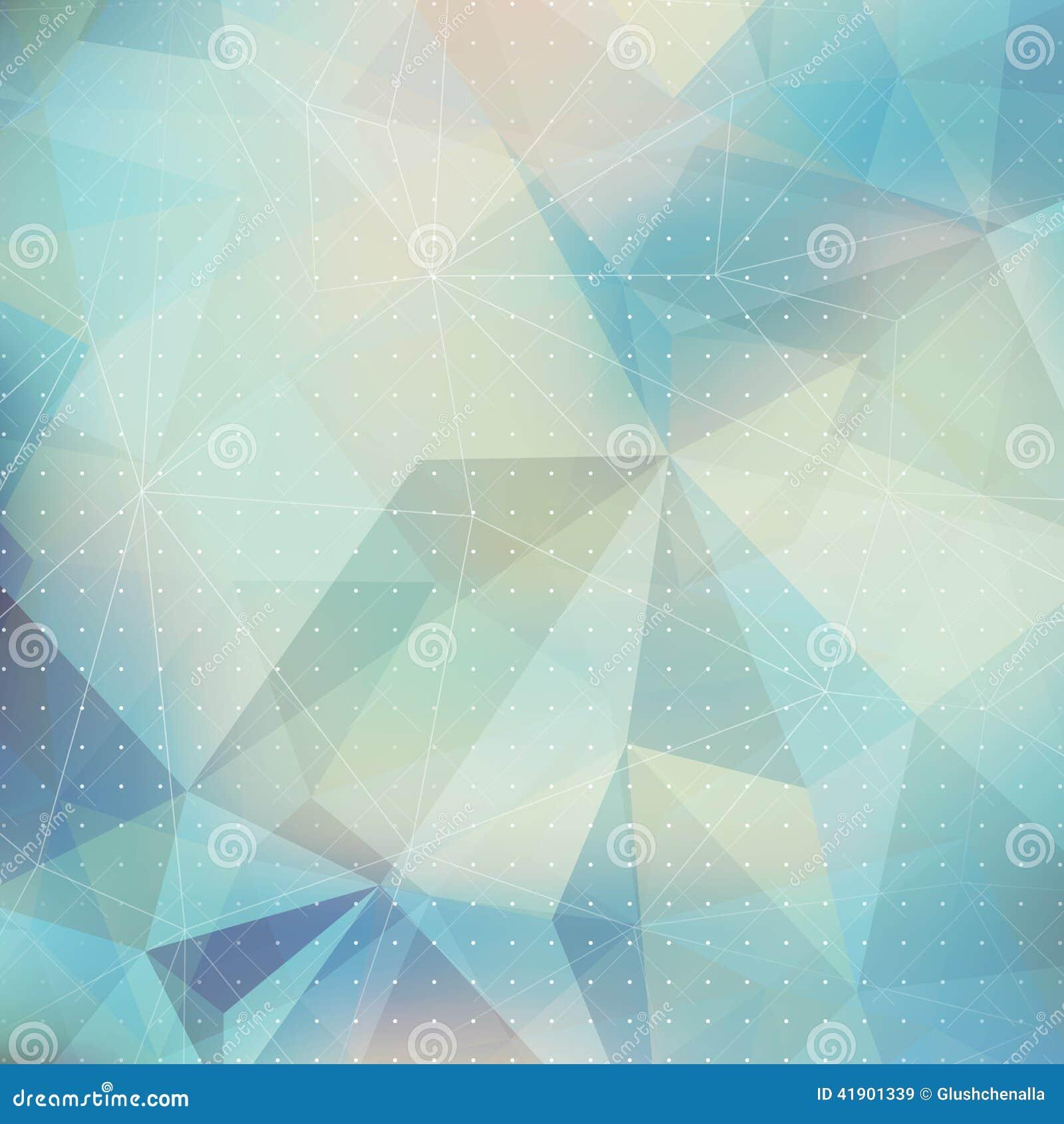 Fondo geométrico del triángulo abstracto
