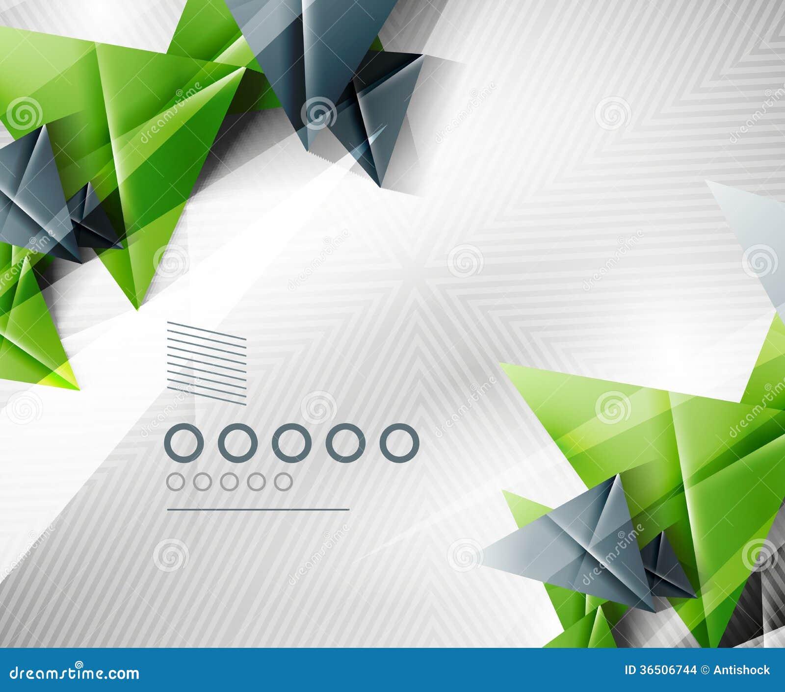 Fondo geométrico del triángulo del extracto de la forma
