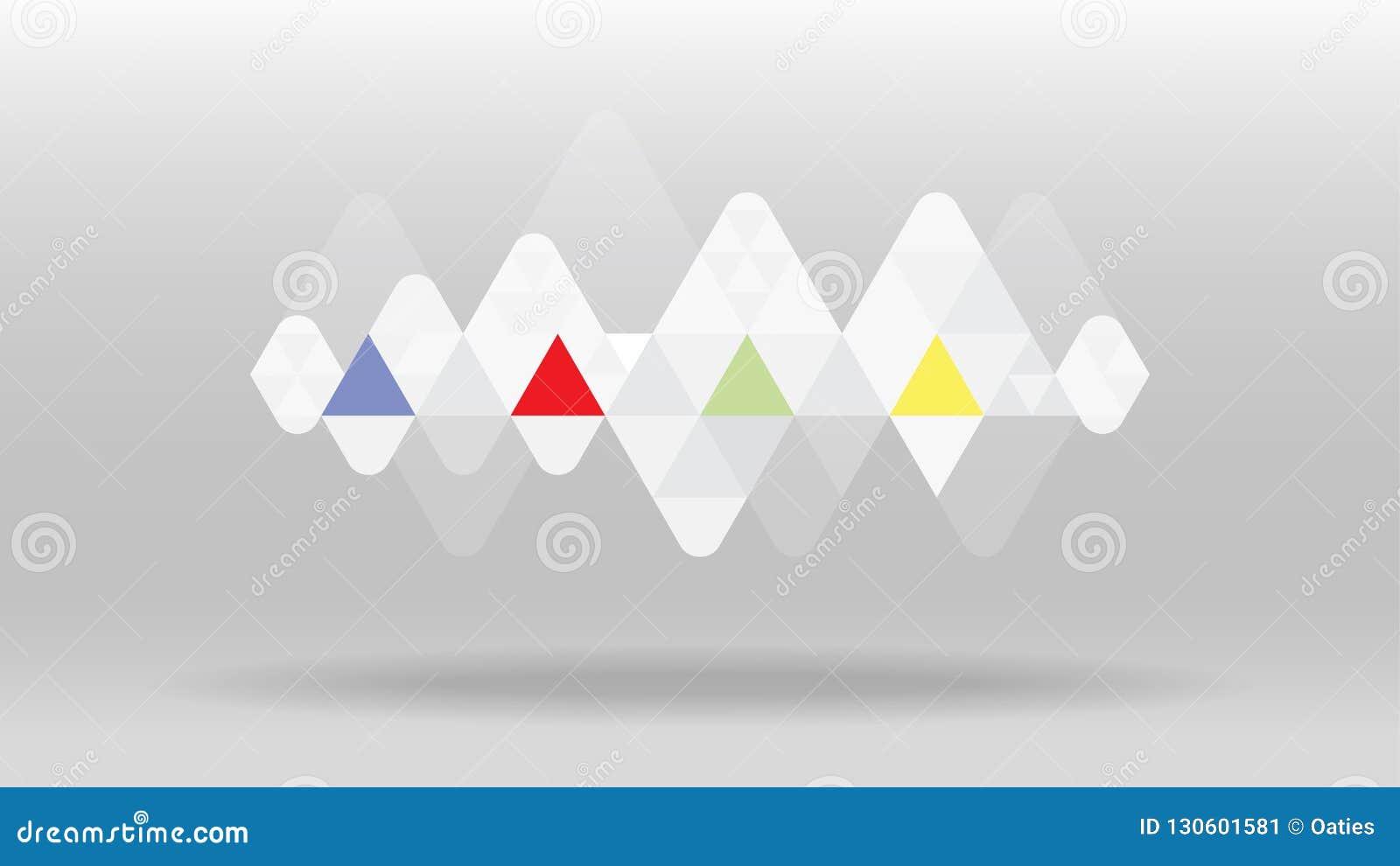 Fondo geométrico del vector del extracto de la onda acústica