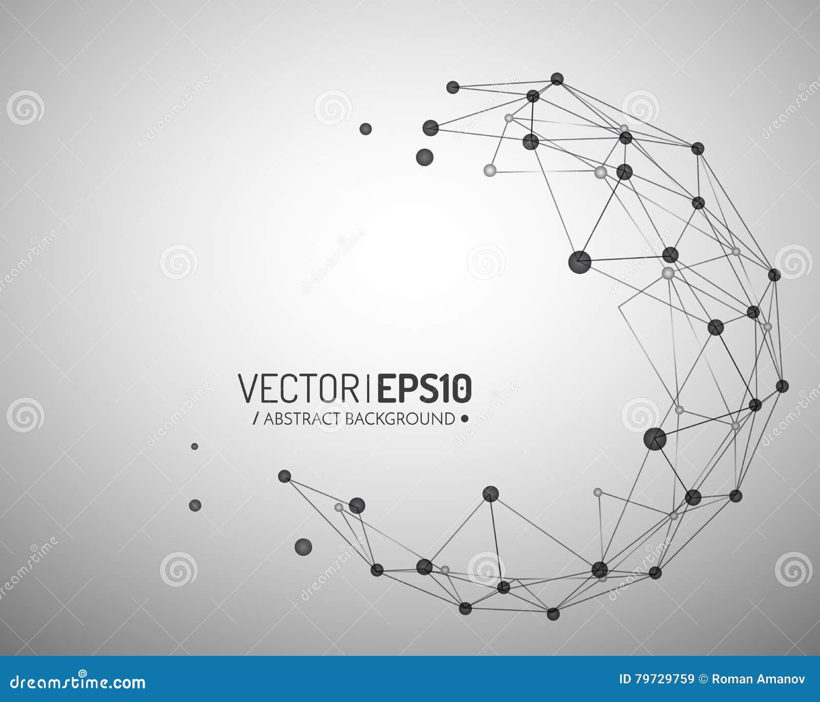 Fondo geométrico del vector para la presentación del negocio o de la ciencia Concepto de la conexión