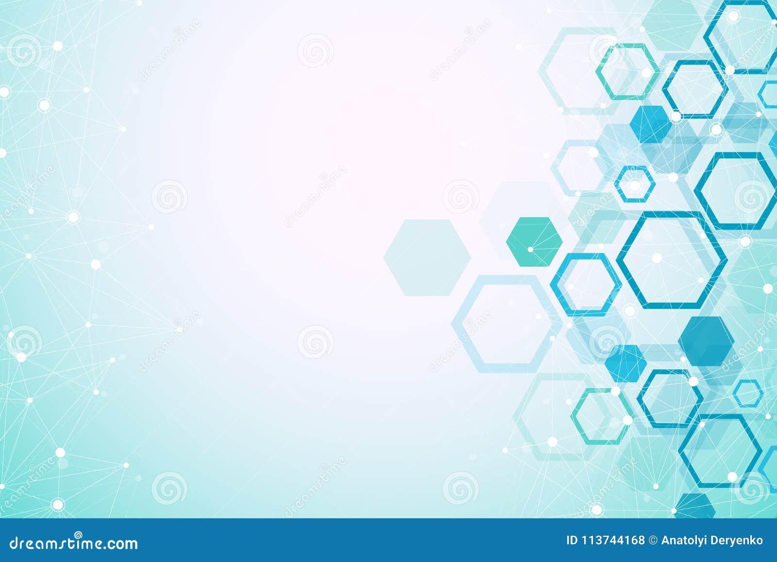 Fondo Geométrico Hexagonal Hexágonos Genéticos Y Red Social ...