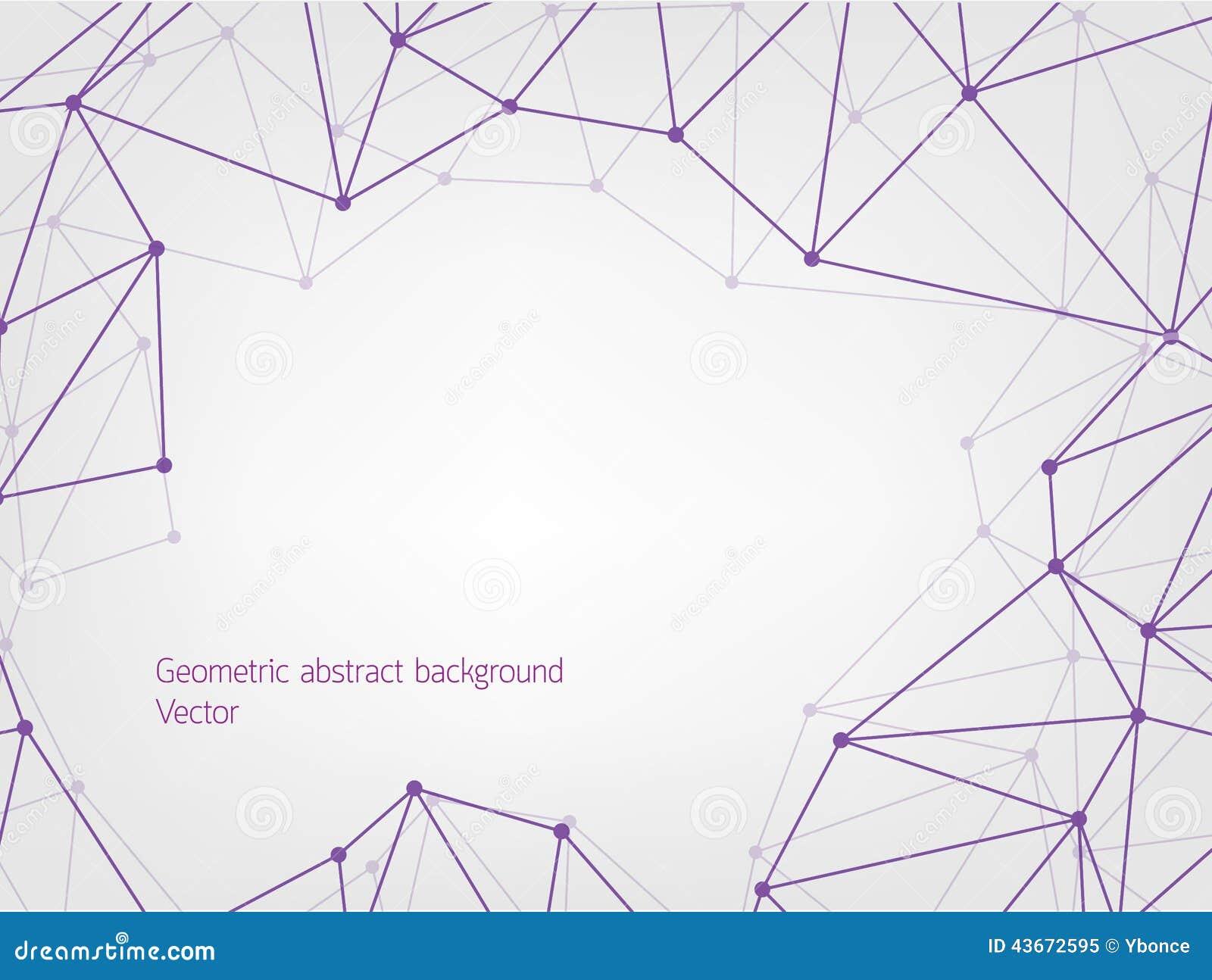 Fondo geométrico púrpura del extracto del polígono