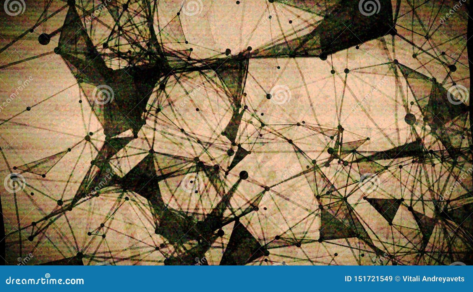 Fondo geométrico que brilla intensamente del extracto, textura geométrica Soluci?n del dise?o