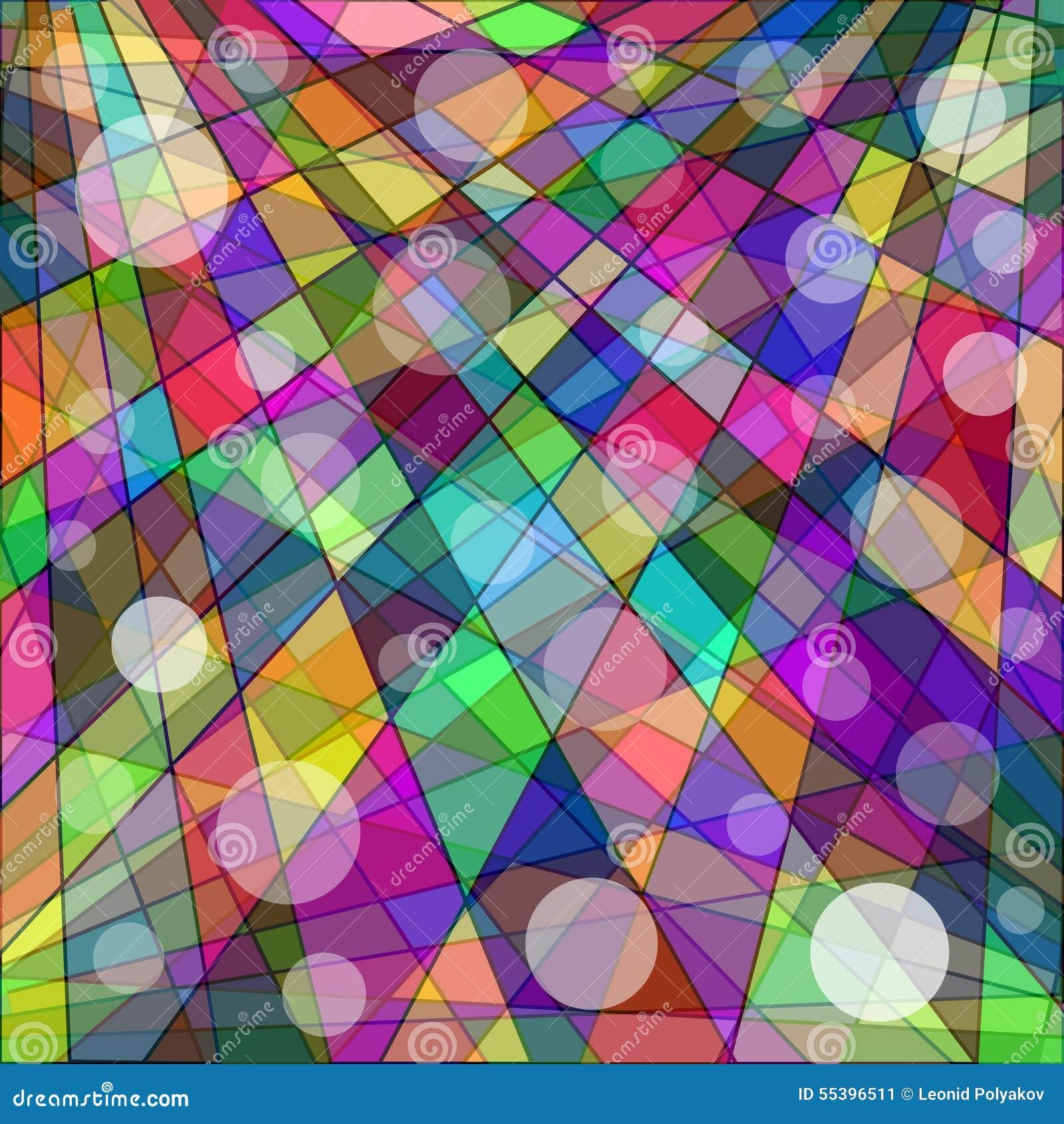 Fondo geometrico astratto della carta da parati colorata for Carta da parati colorata