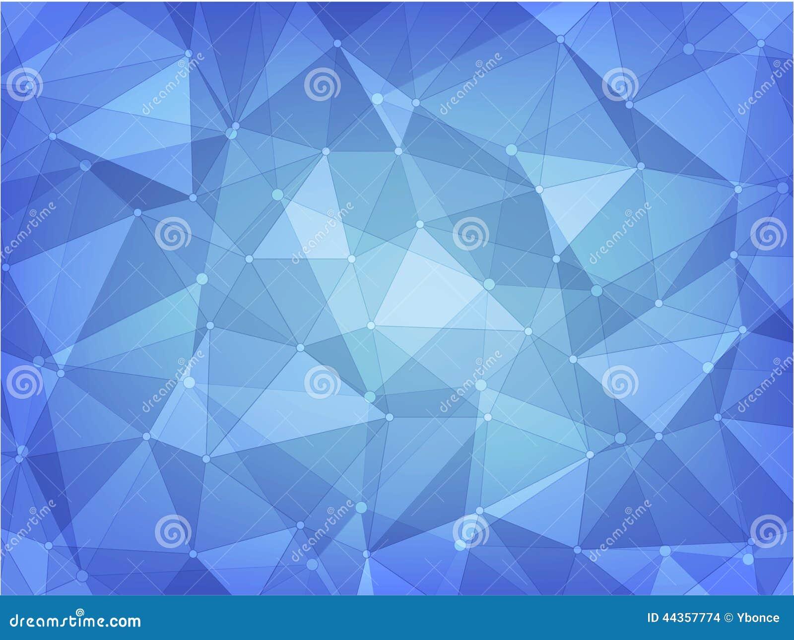 Fondo geometrico dell estratto del poligono del blu