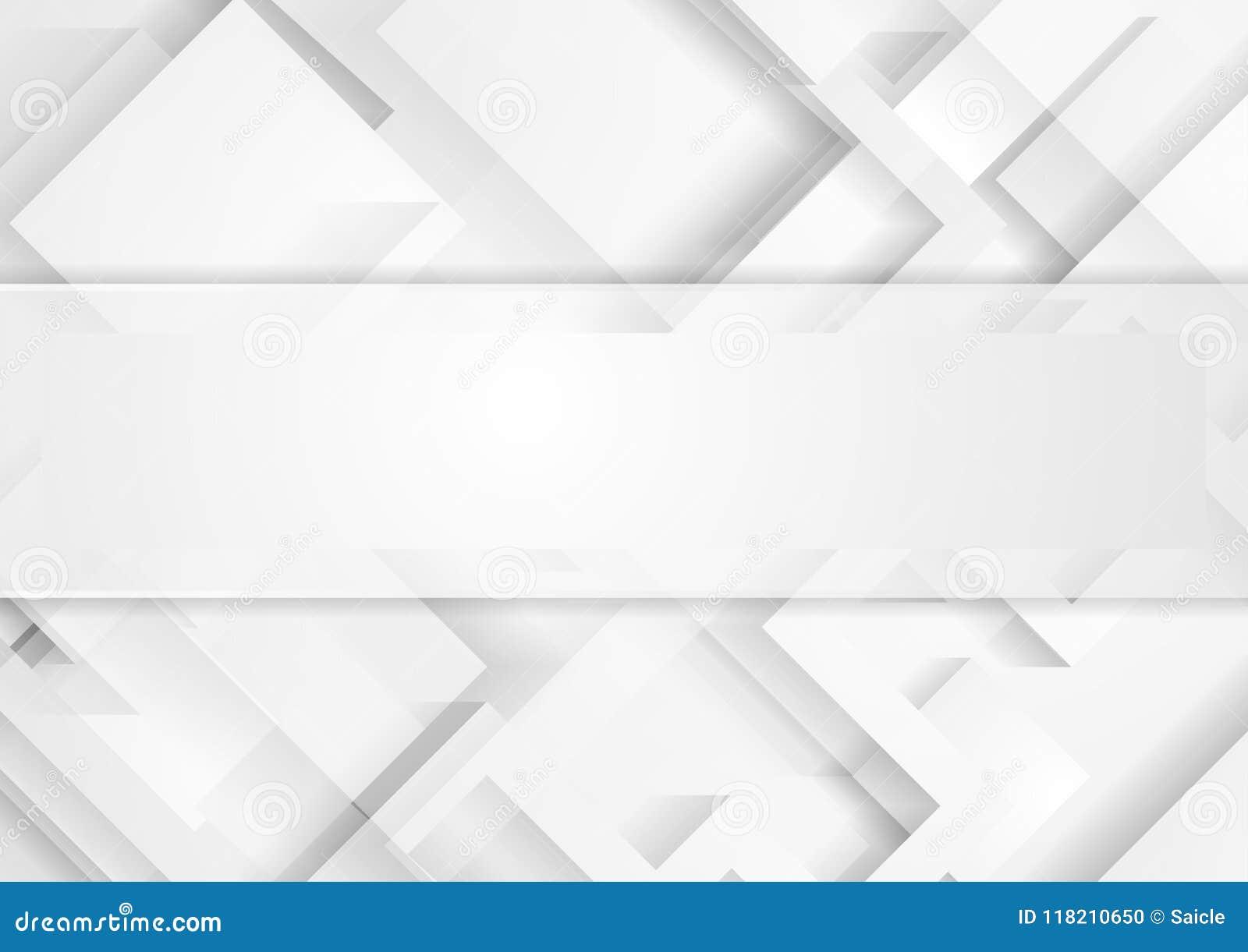 Fondo geometrico di tecnologia grigio chiaro astratta