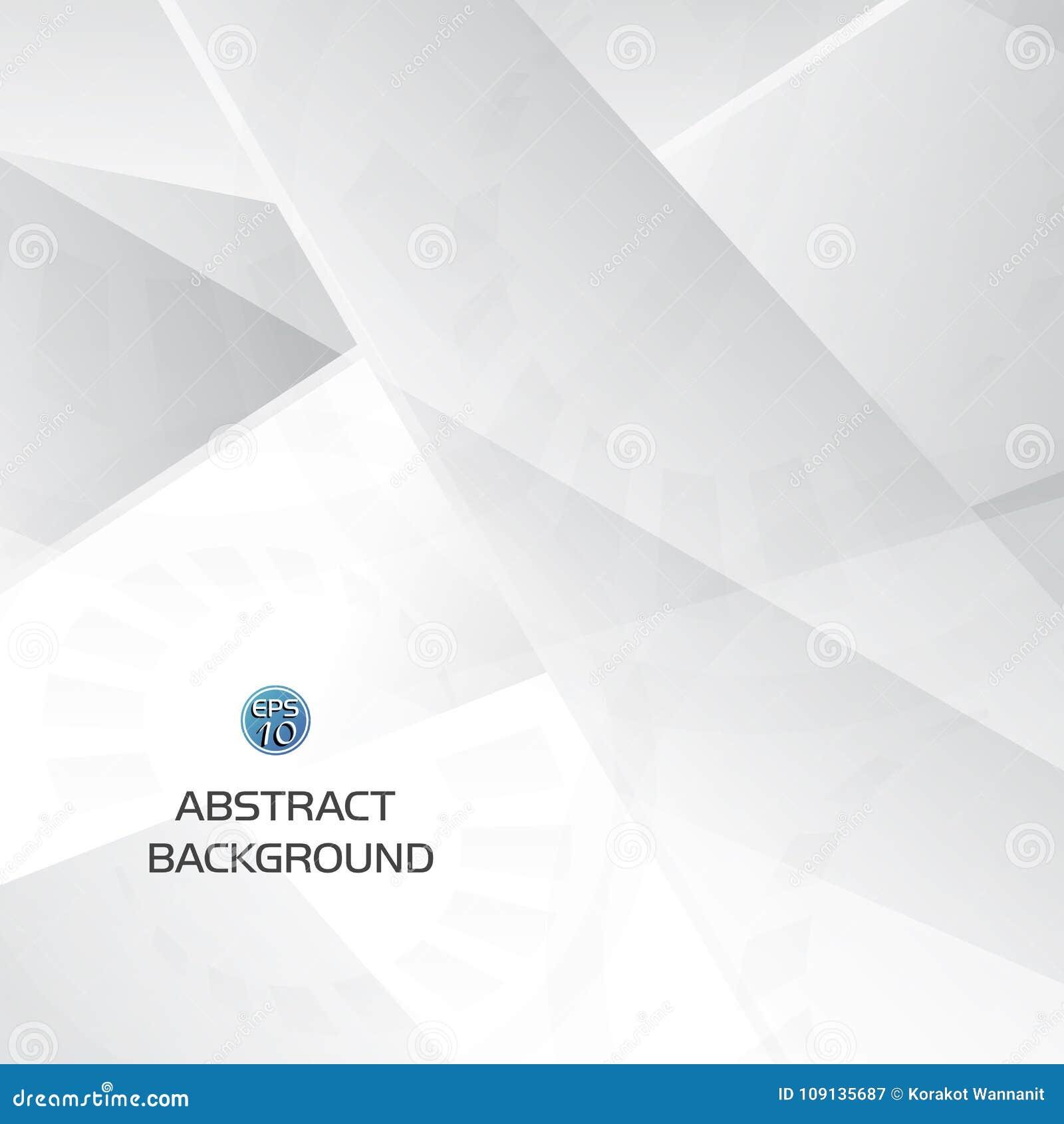 Fondo geometrico grigio e bianco astratto di tecnologia con forma dell ingranaggio
