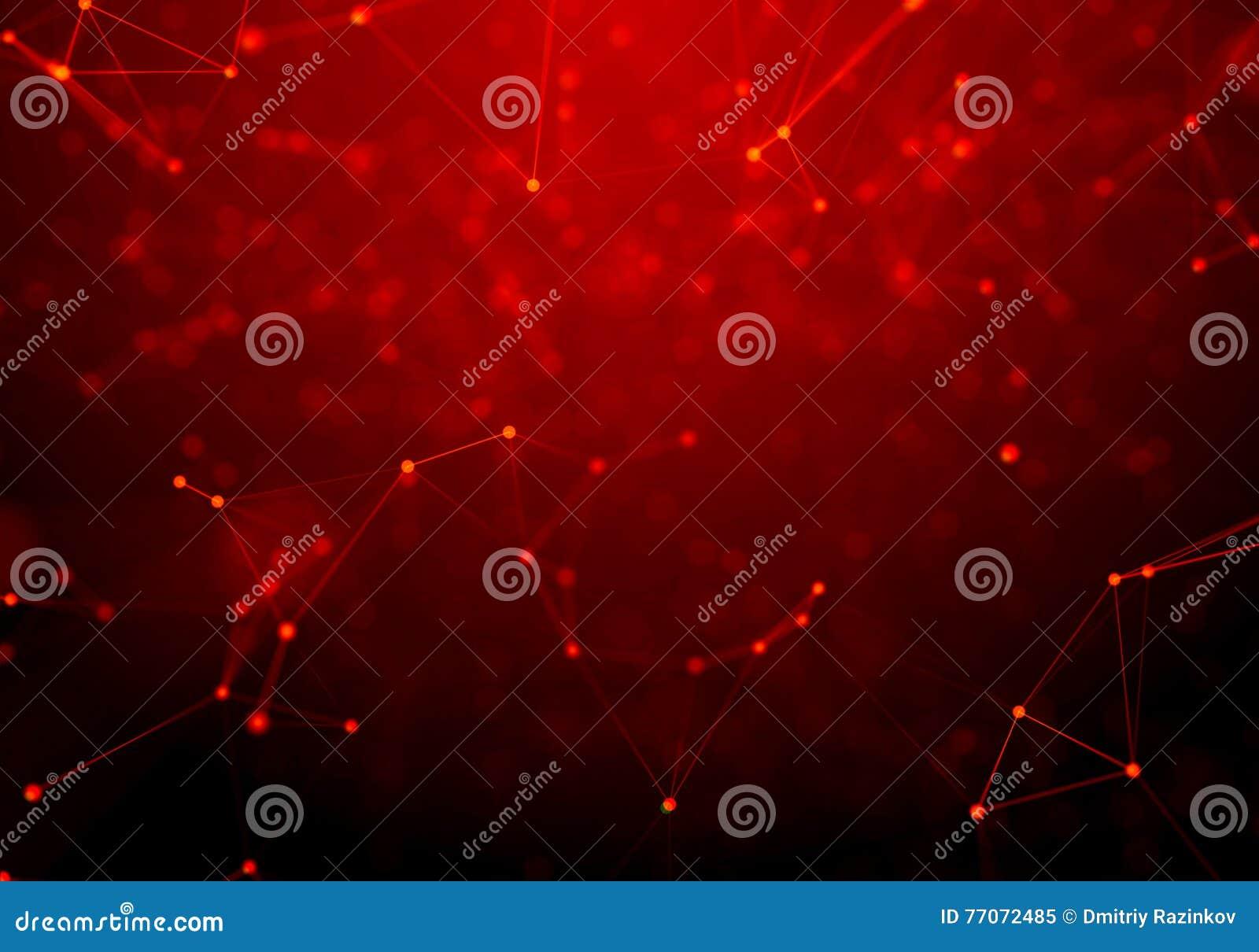 Fondo geometrico rosso astratto Stile futuristico di tecnologia Segno al neon Tecnologia futuristica HUD Element