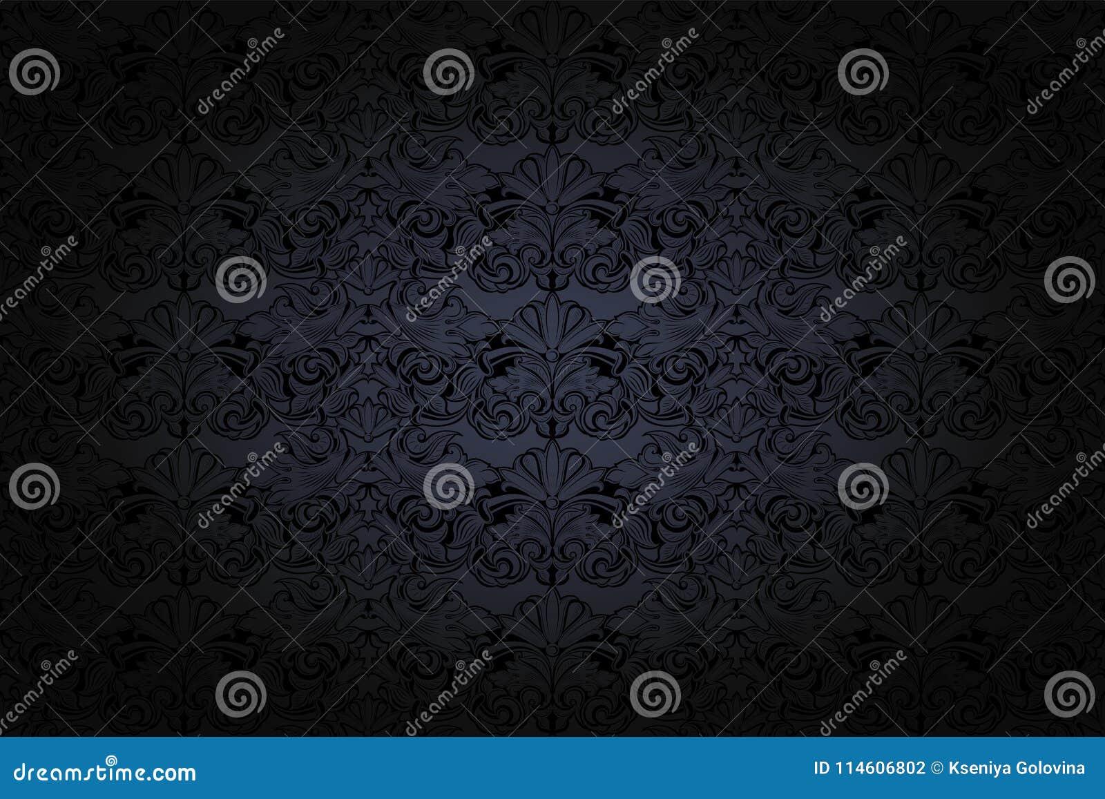 Fondo gotico d annata in grigio scuro ed in nero