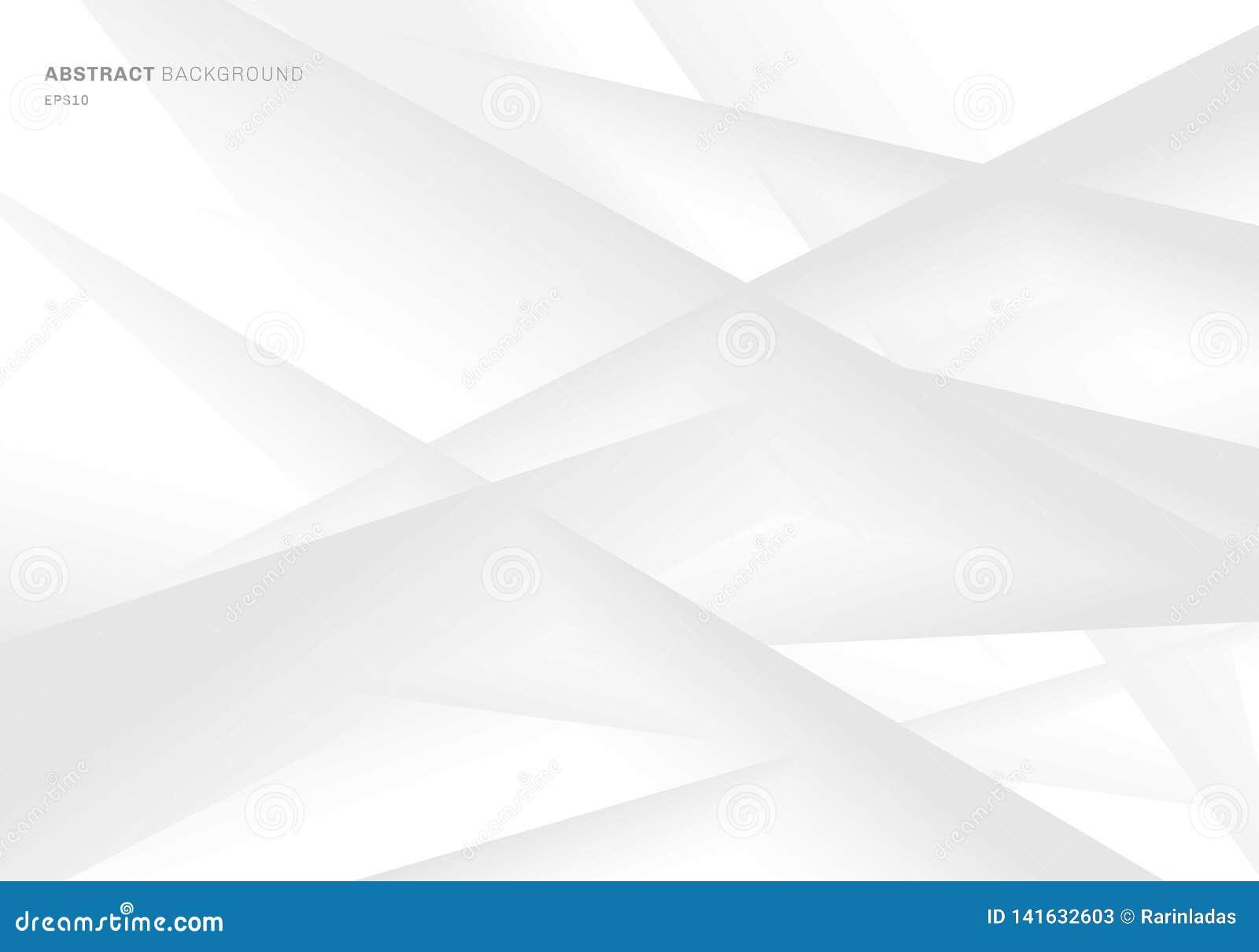 Fondo grigio dell estratto e bianco geometrico di colore di pendenza Potete usare per progettazione della copertura, opuscolo, ma