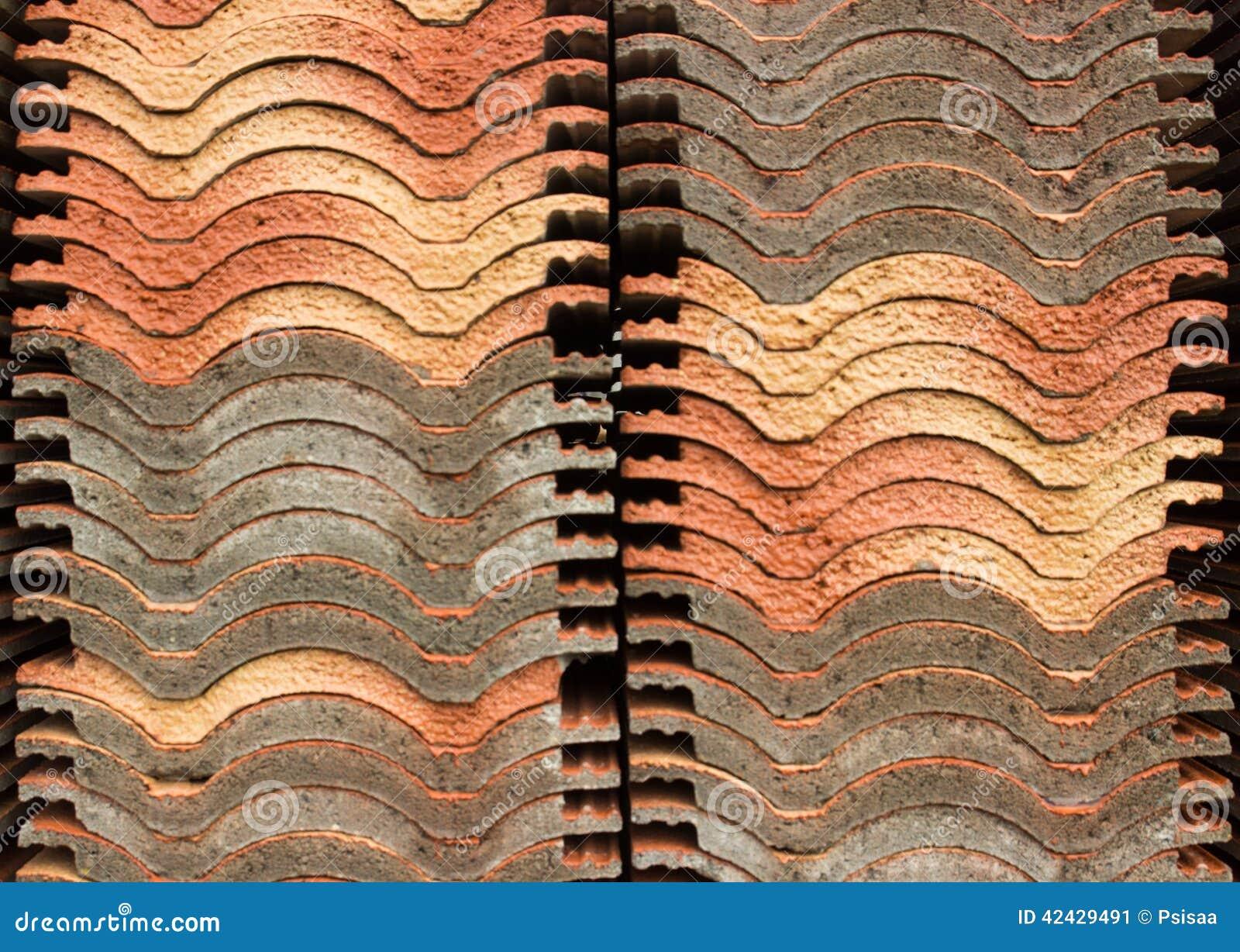 Fondo gris anaranjado de teja de tejado