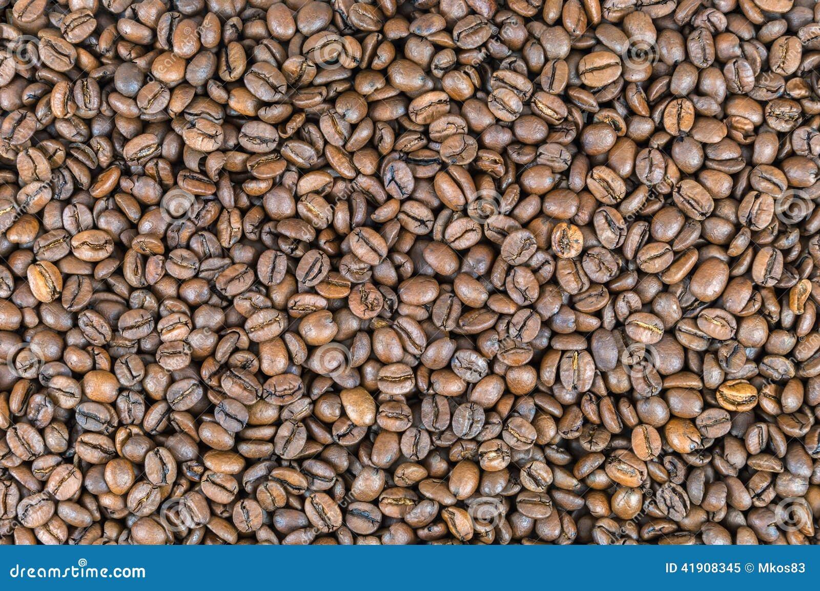 Fondo hecho de los granos de café