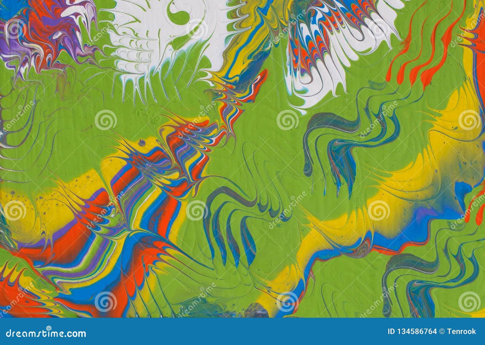 Fondo hecho a mano multicolor del extracto Arte flúido