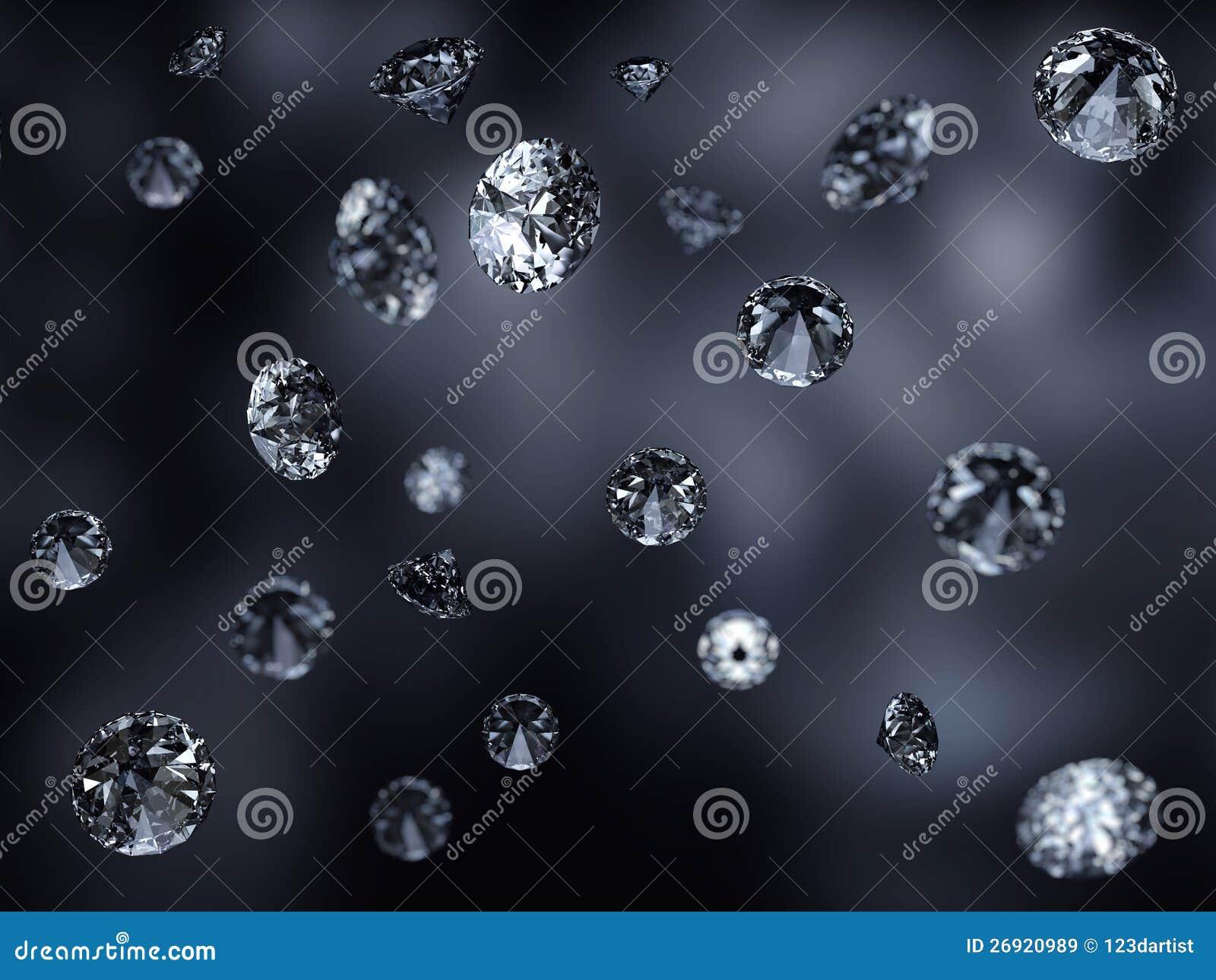 Fondo hermoso de los diamantes que cae
